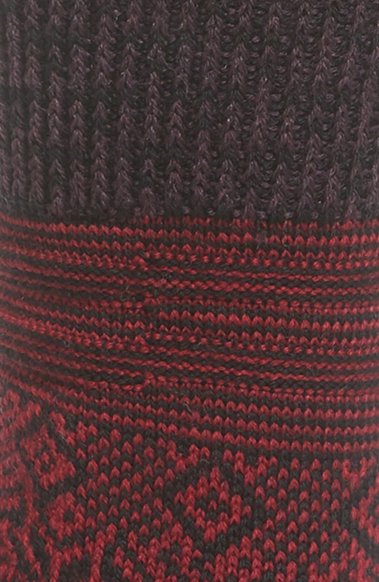 Snowflake Flurry Merino Wool Blend Socks,                             Alternate thumbnail 2, color,                             TIBETAN RED HEATHER