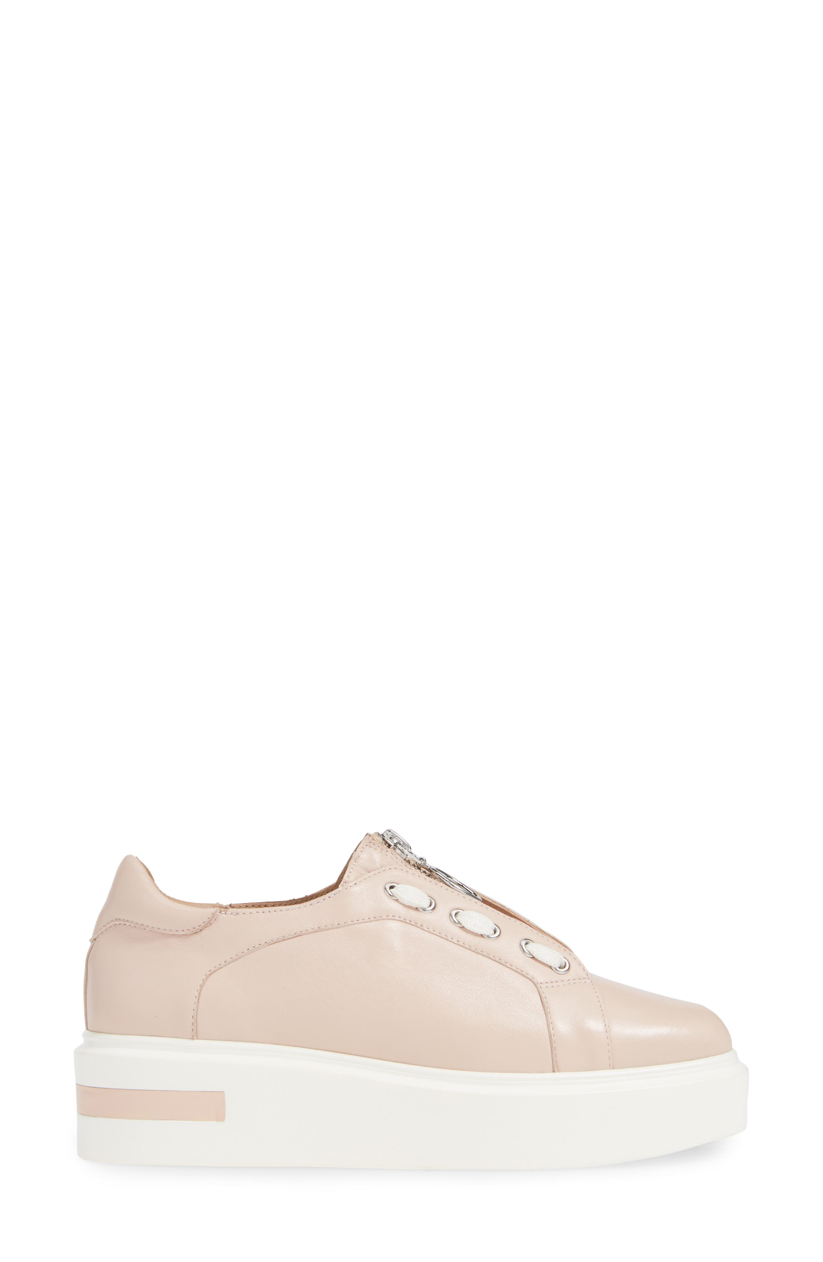 LINEA PAOLO,                             Killian Platform Sneaker,                             Alternate thumbnail 3, color,                             BLUSH LEATHER