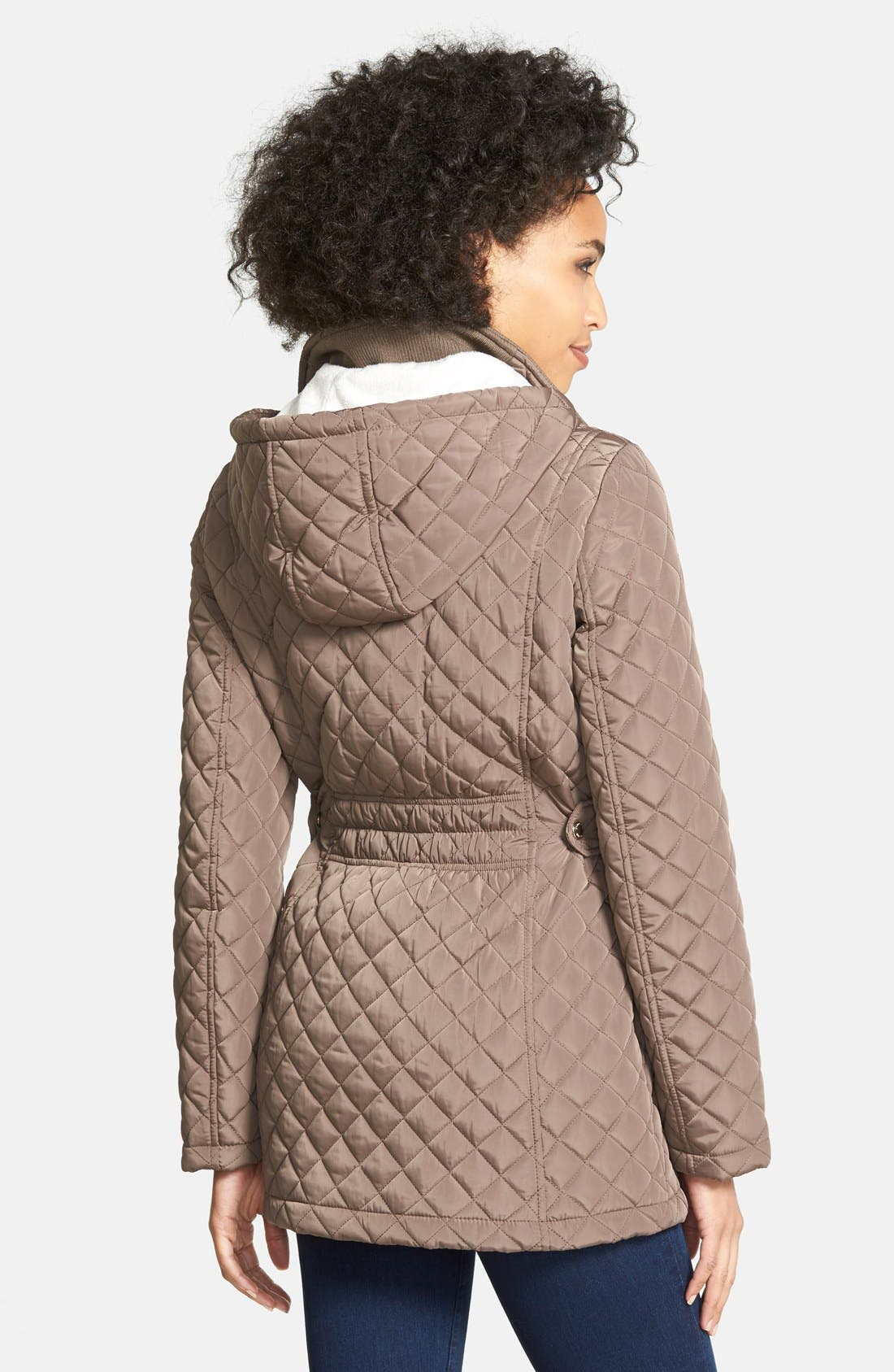 Hooded Quilted Jacket,                             Alternate thumbnail 18, color,