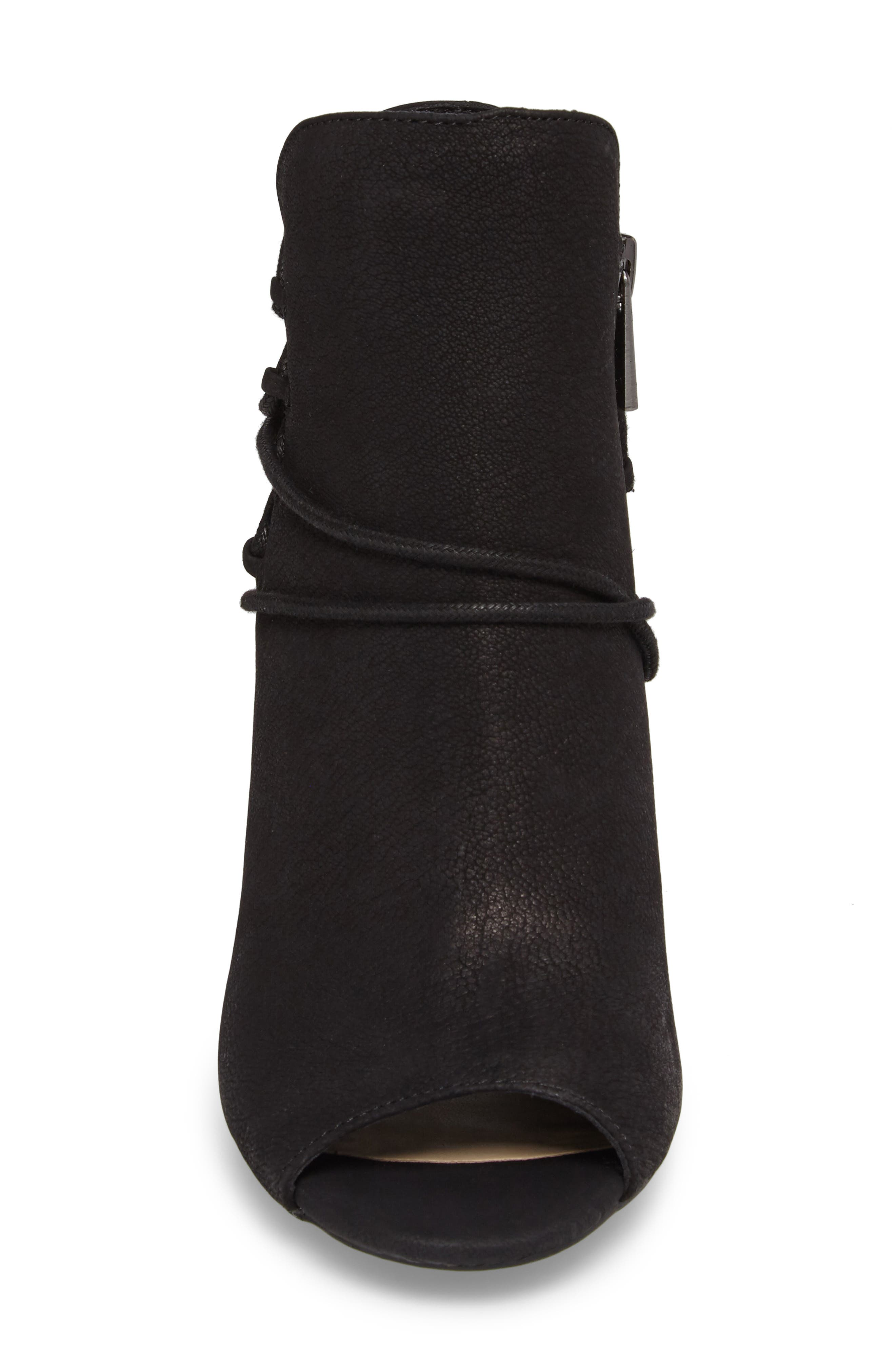 Remni Peep Toe Bootie,                             Alternate thumbnail 4, color,                             001