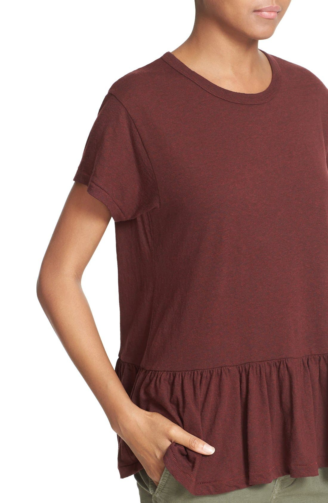 The Ruffle Tee,                             Alternate thumbnail 47, color,