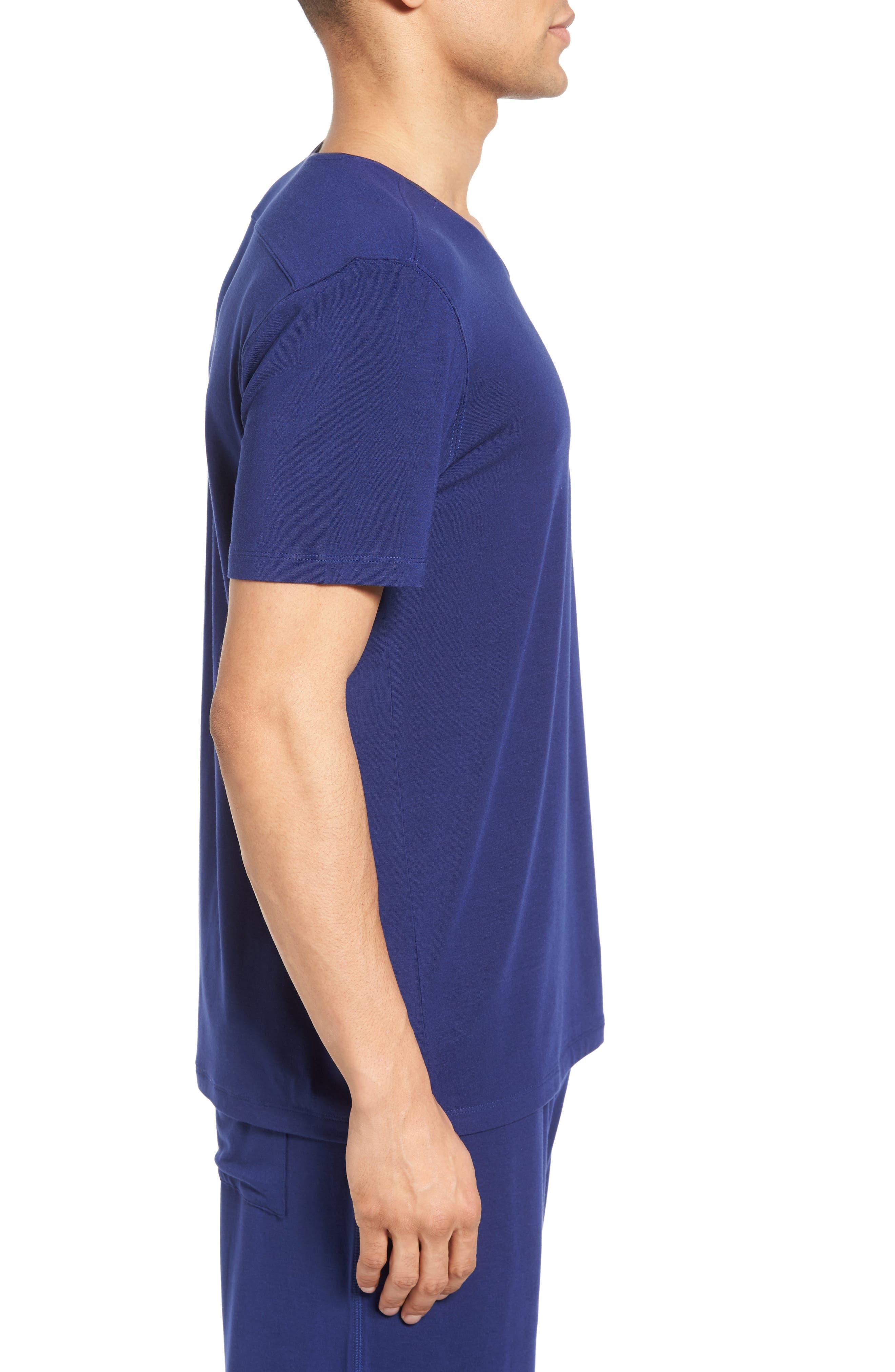 V-Neck Stretch Modal T-Shirt,                             Alternate thumbnail 3, color,                             413