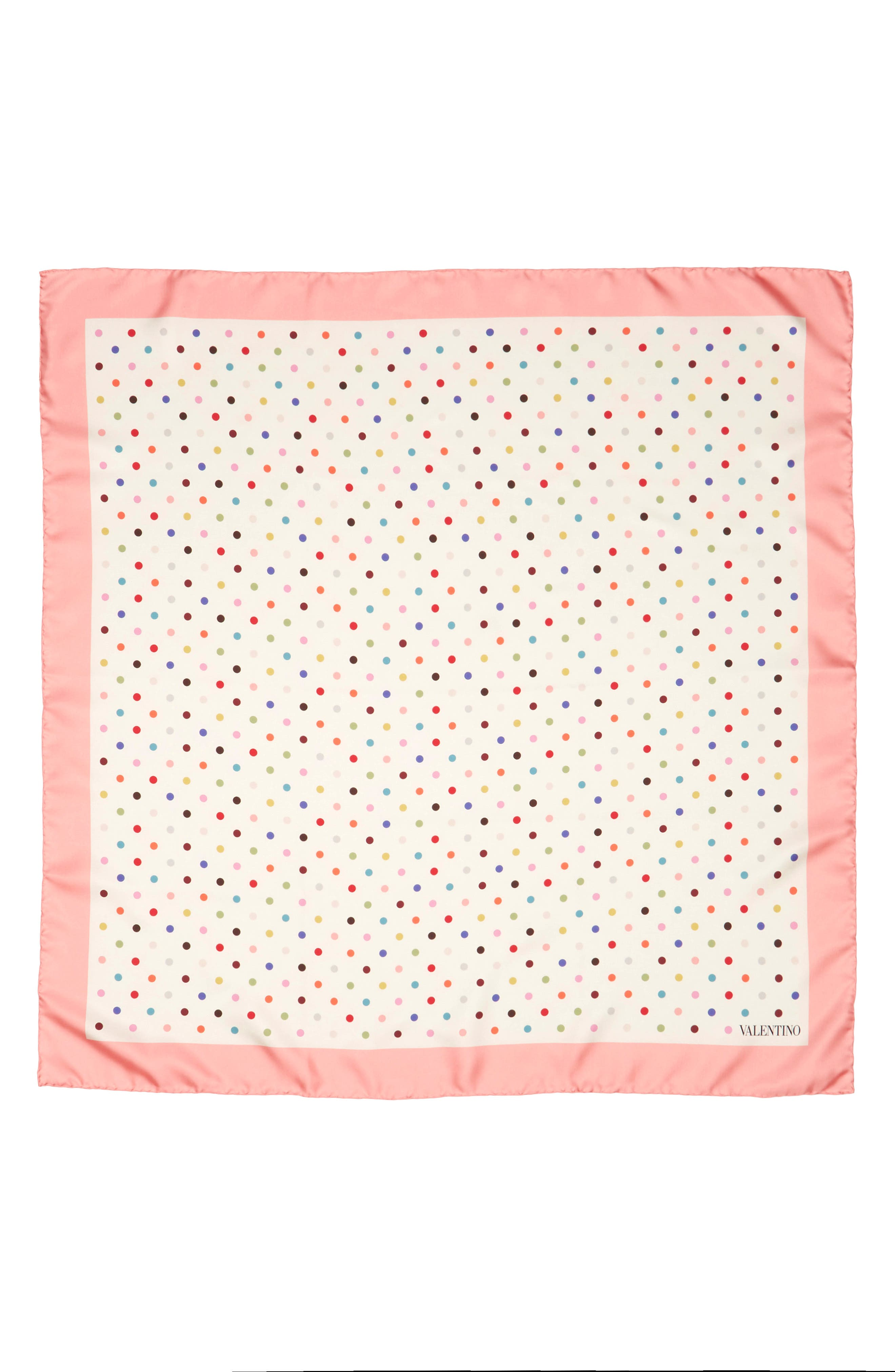 Rainbow Dots Silk Scarf,                             Main thumbnail 2, color,