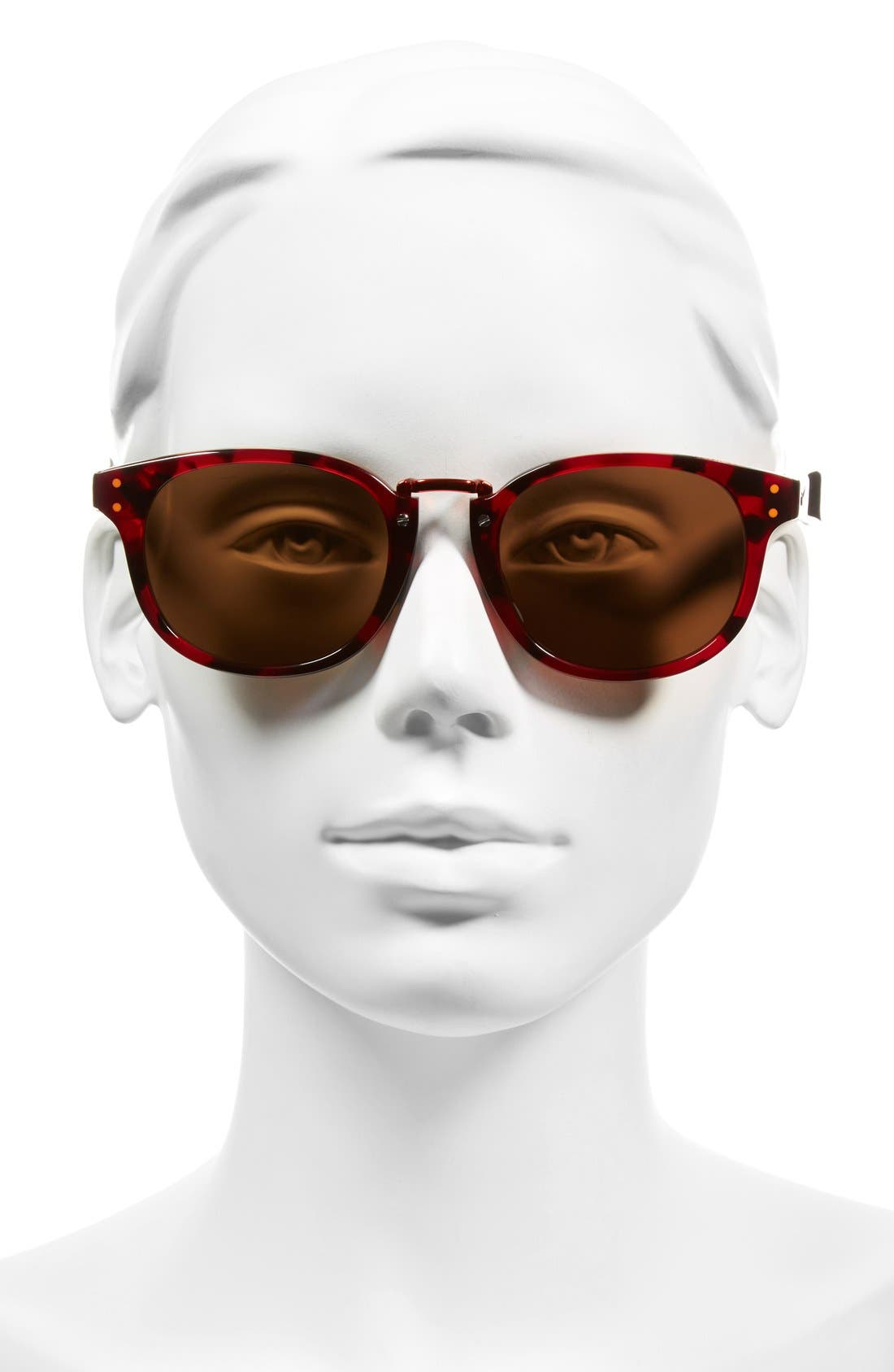 'Achieve' 52mm Sunglasses,                             Alternate thumbnail 2, color,                             RED TORTOISE