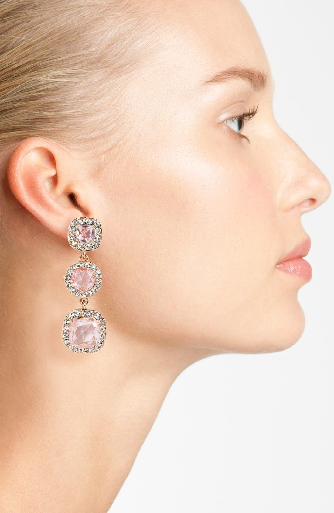 'basket pavé' linear earrings,                             Alternate thumbnail 2, color,                             680