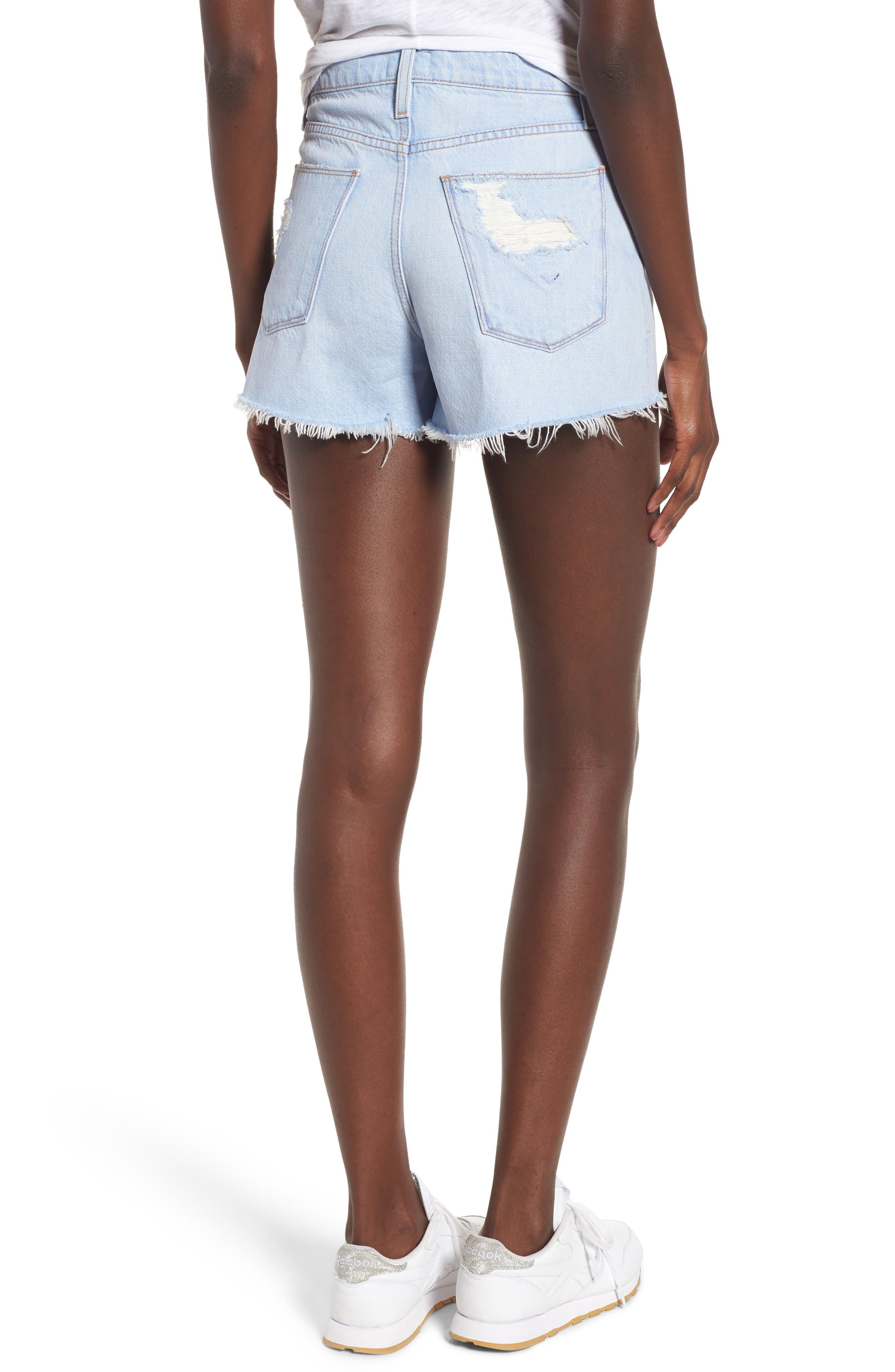 Sade Cutoff Denim Shorts,                             Alternate thumbnail 2, color,                             460