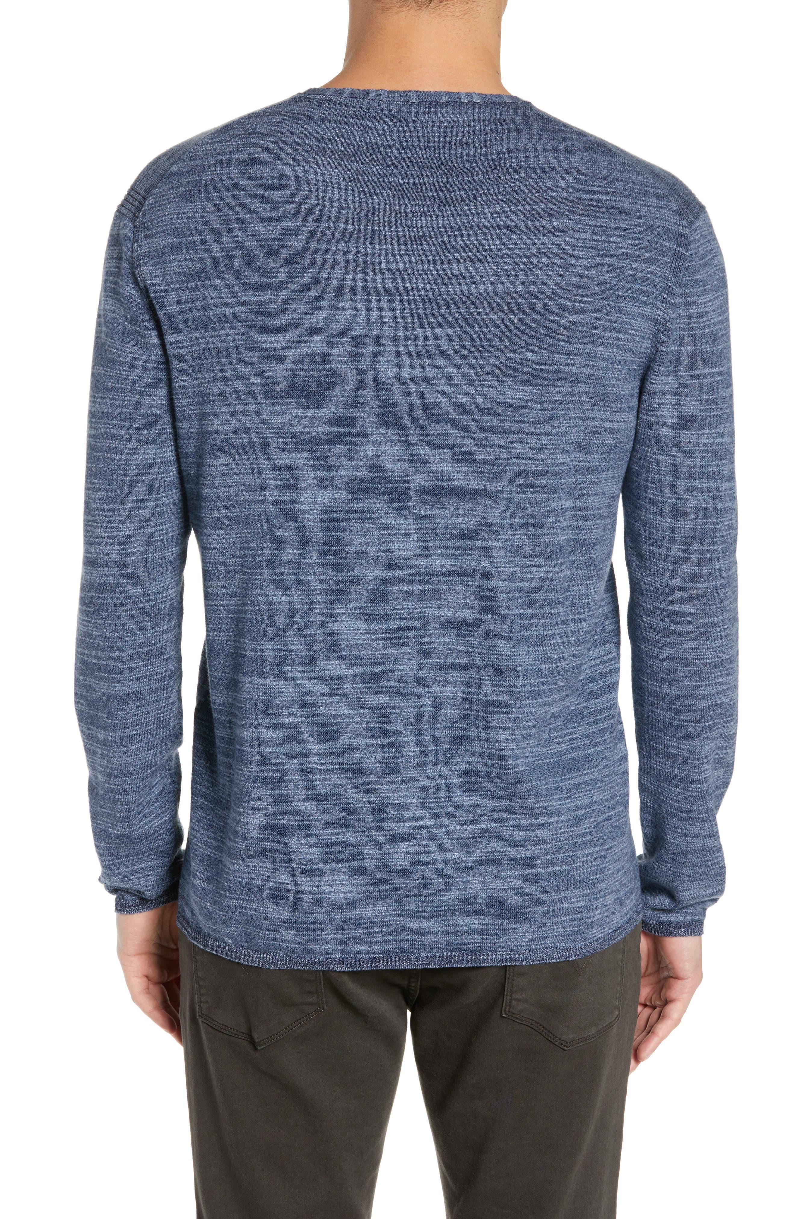 Vincent Plated Regular Fit Crewneck Sweater,                             Alternate thumbnail 2, color,                             STREAM BLUE