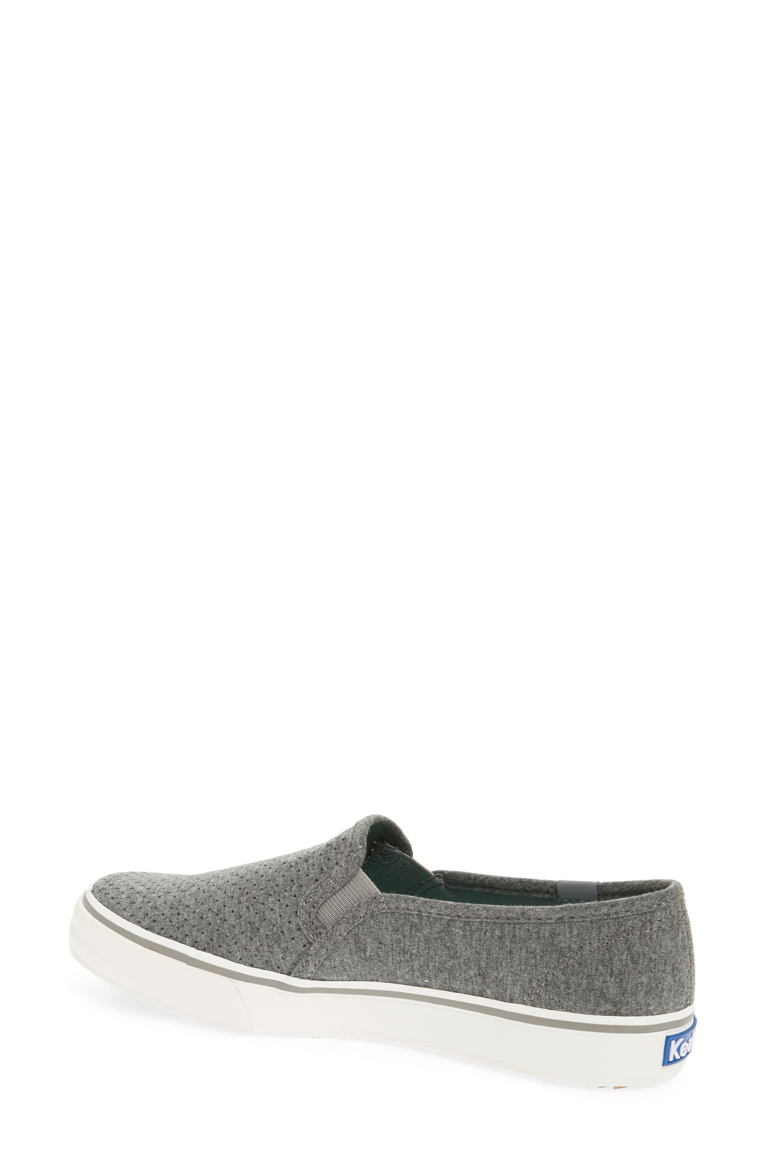 Double Decker Perforated Slip-On Sneaker,                             Alternate thumbnail 2, color,                             021