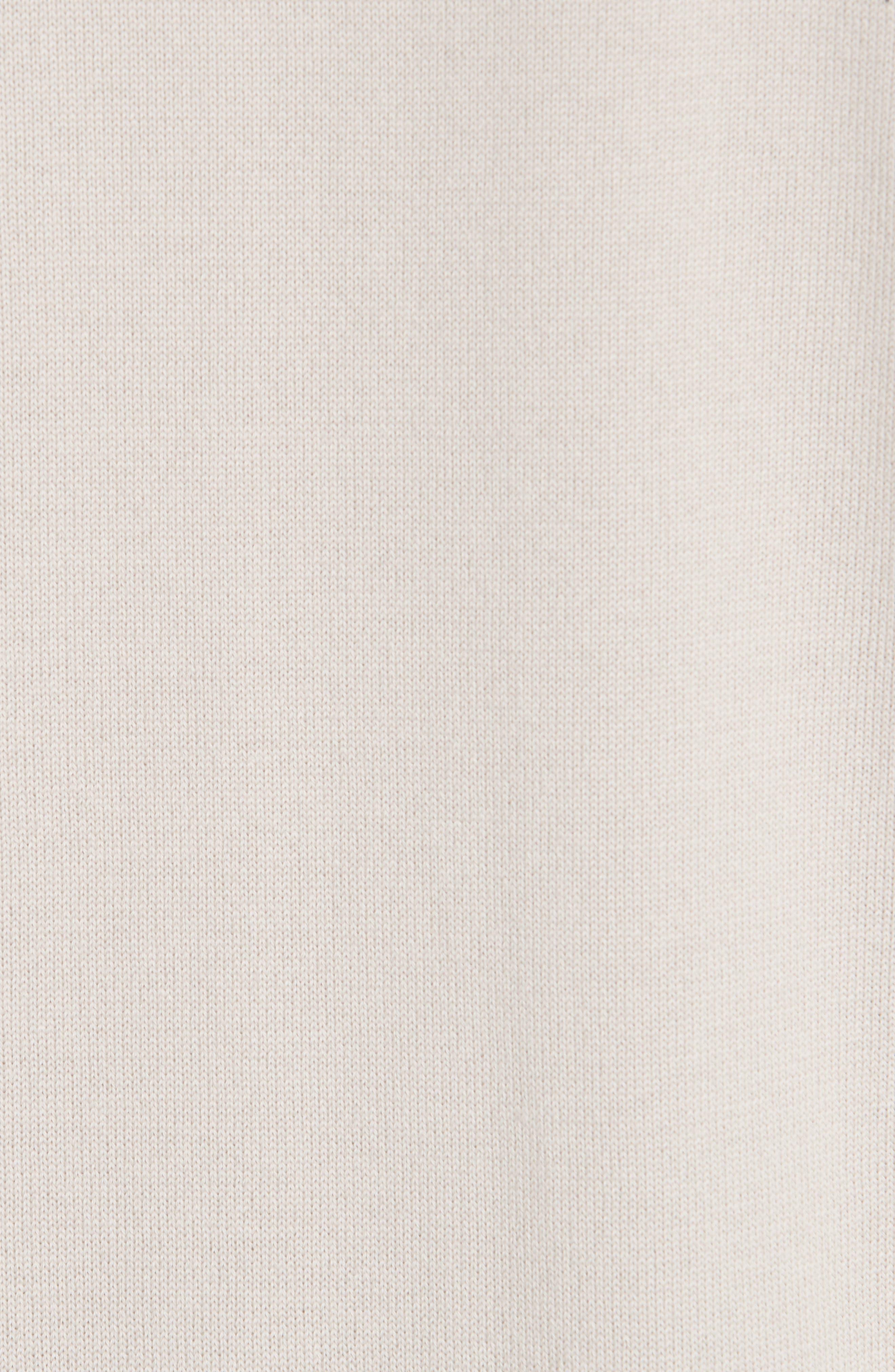 Suede, Cotton & Wool Cardigan,                             Alternate thumbnail 6, color,                             BEIGE