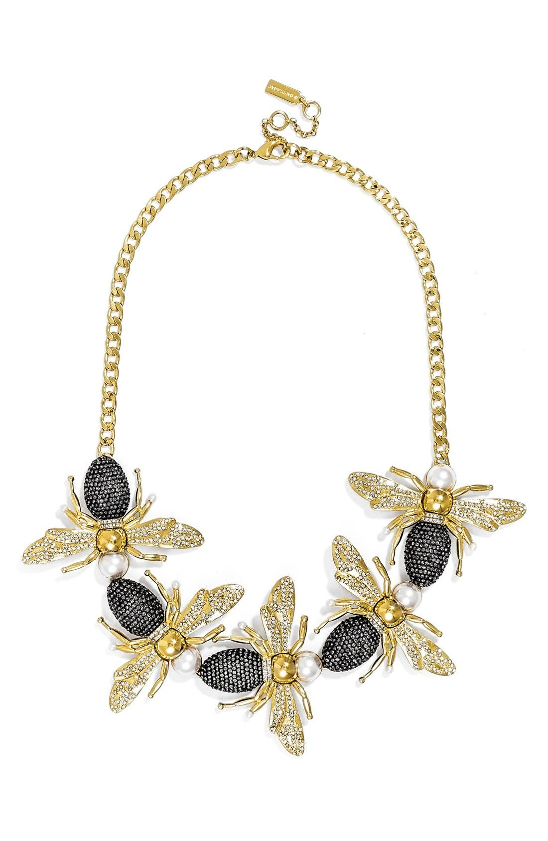 'Queen Bee' Collar Necklace, Main, color, 710