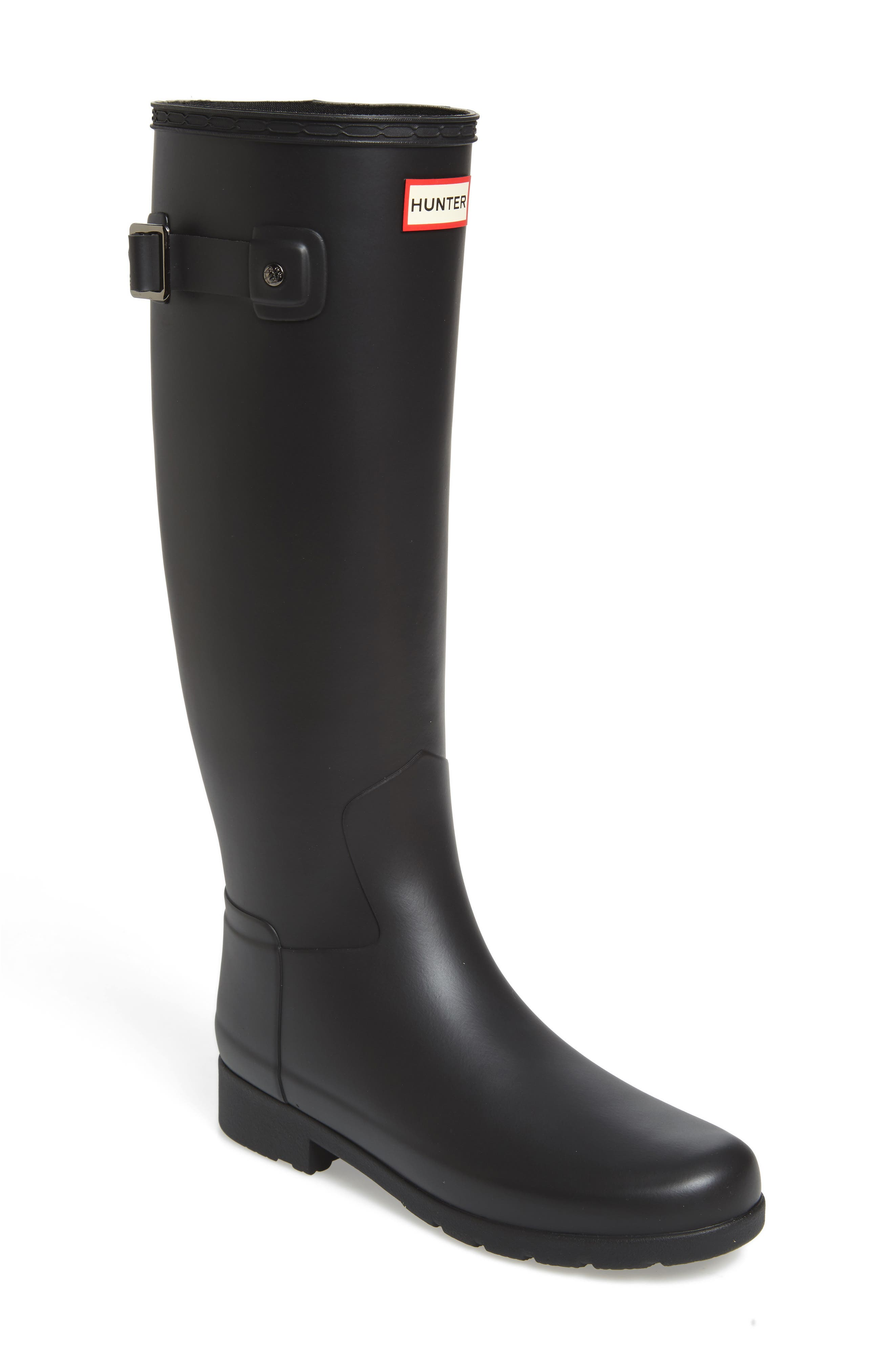 Original Refined Rain Boot,                             Main thumbnail 1, color,                             BLACK
