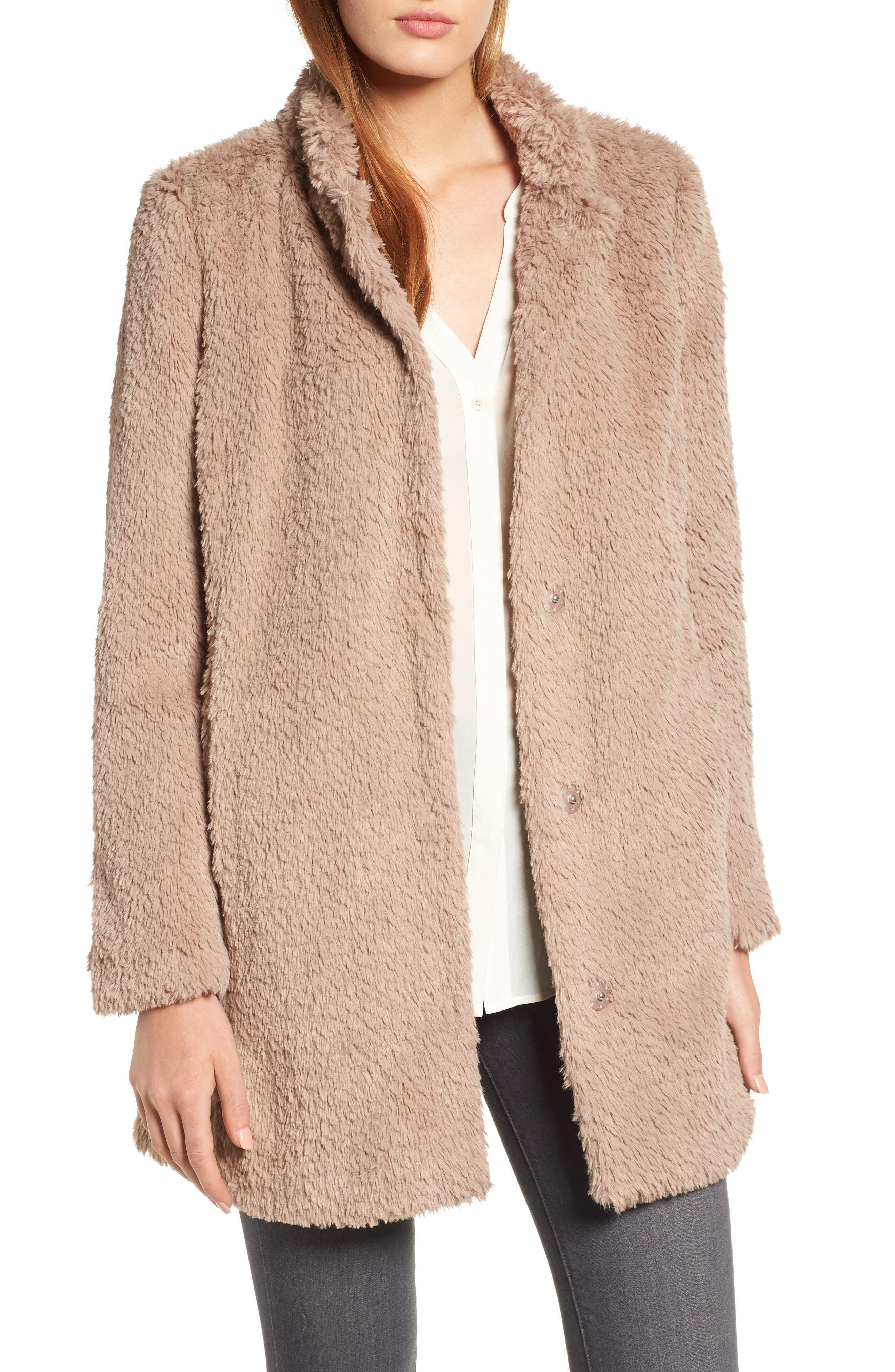 Faux Fur Jacket,                             Main thumbnail 2, color,