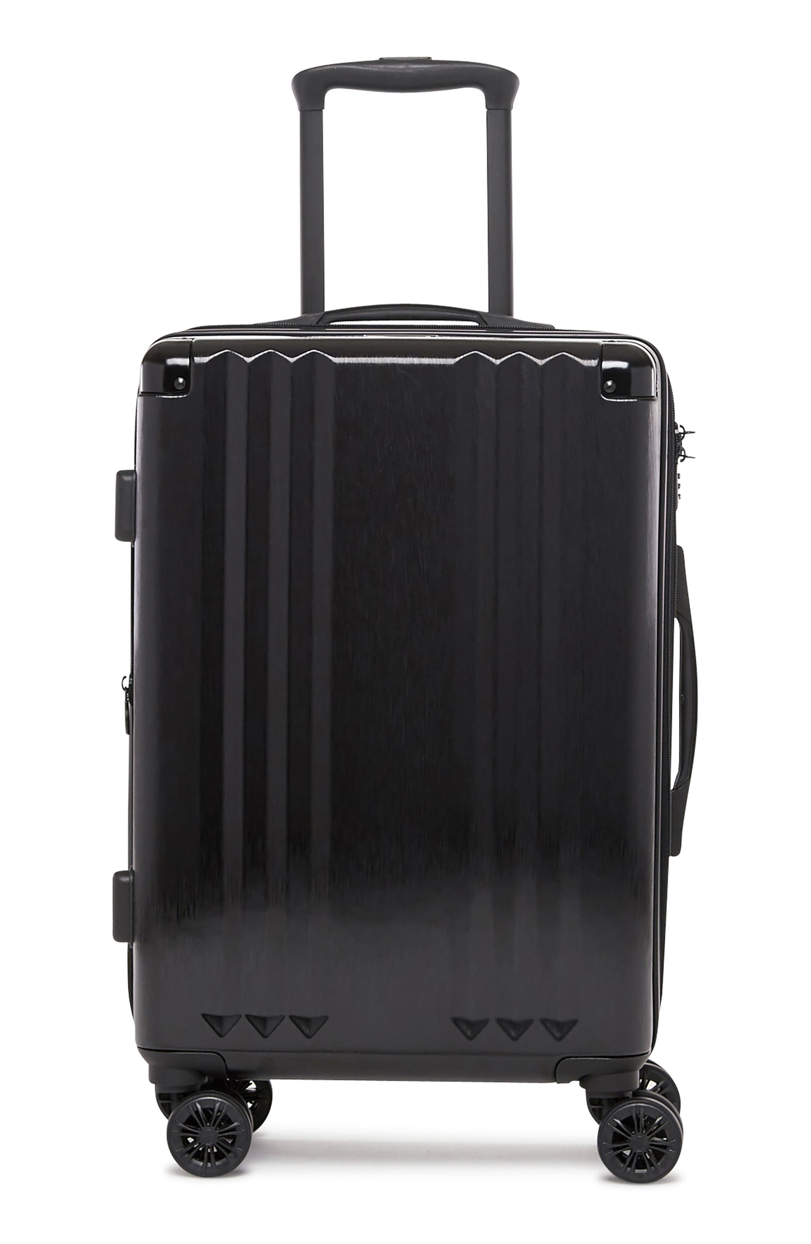 Ambeur 20-Inch Rolling Spinner Carry-On,                             Alternate thumbnail 4, color,                             BLACK