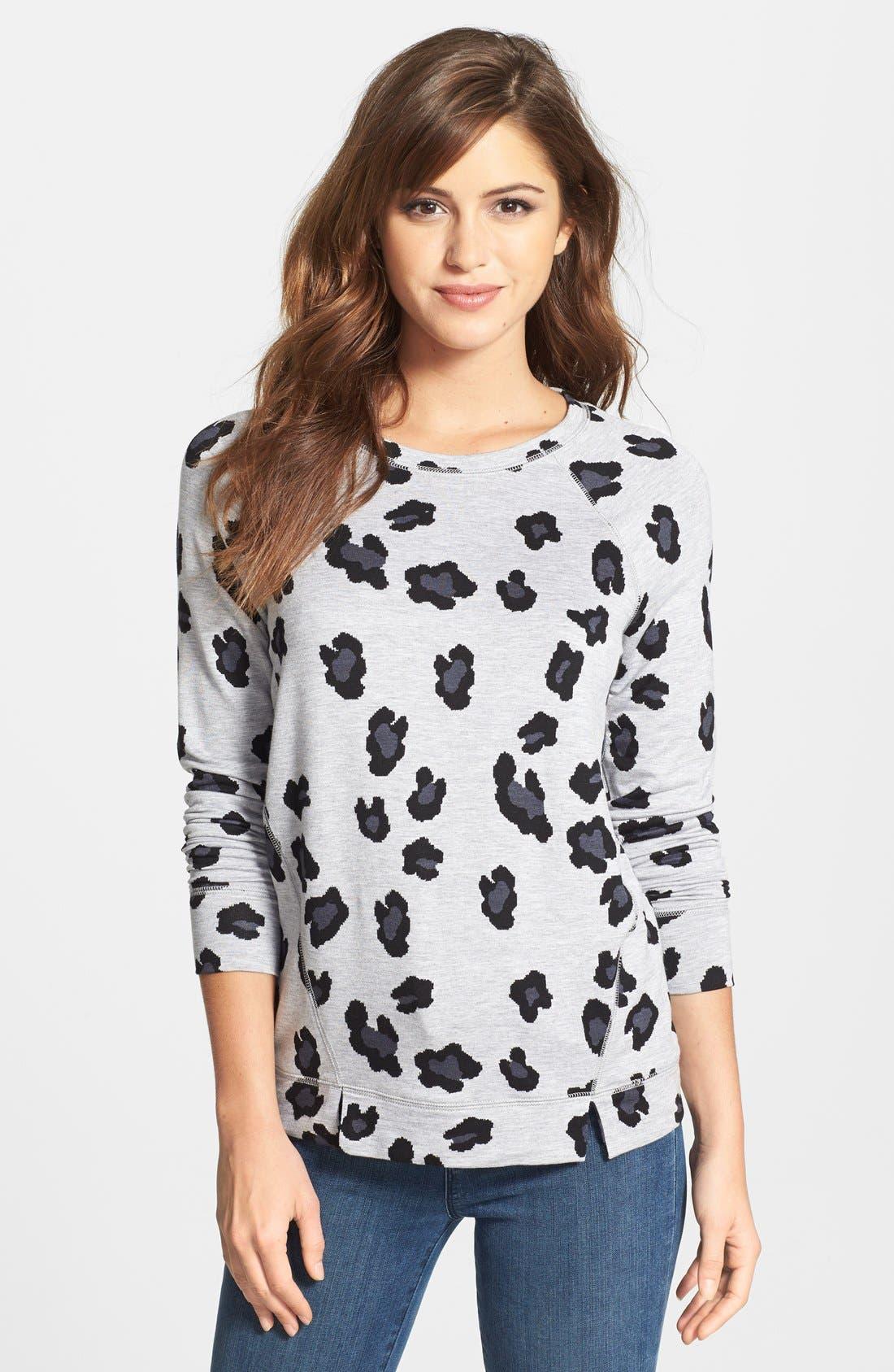 Animal Print Sweatshirt,                         Main,                         color, 020