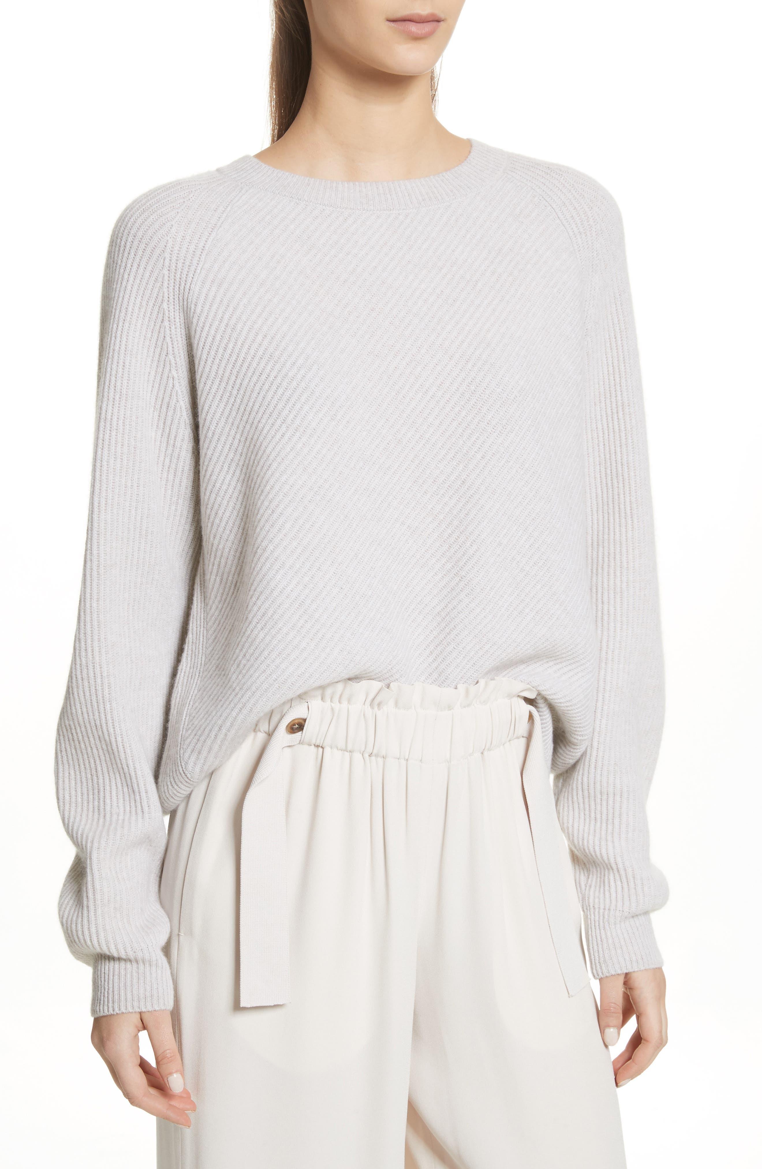 Diagonal Rib Wool & Cashmere Sweater,                             Main thumbnail 2, color,