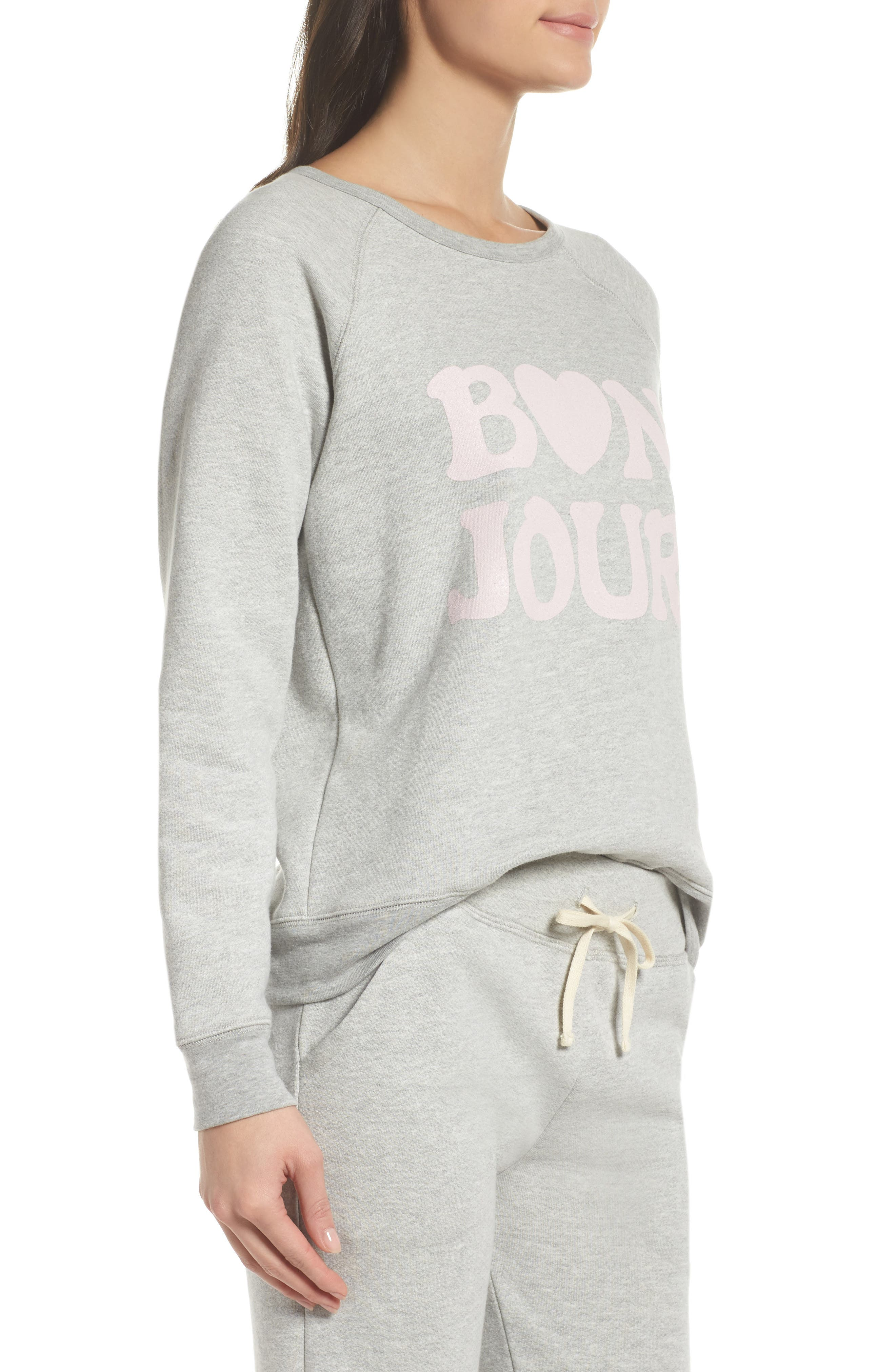 Bon Jour Sweatshirt,                             Alternate thumbnail 3, color,                             028