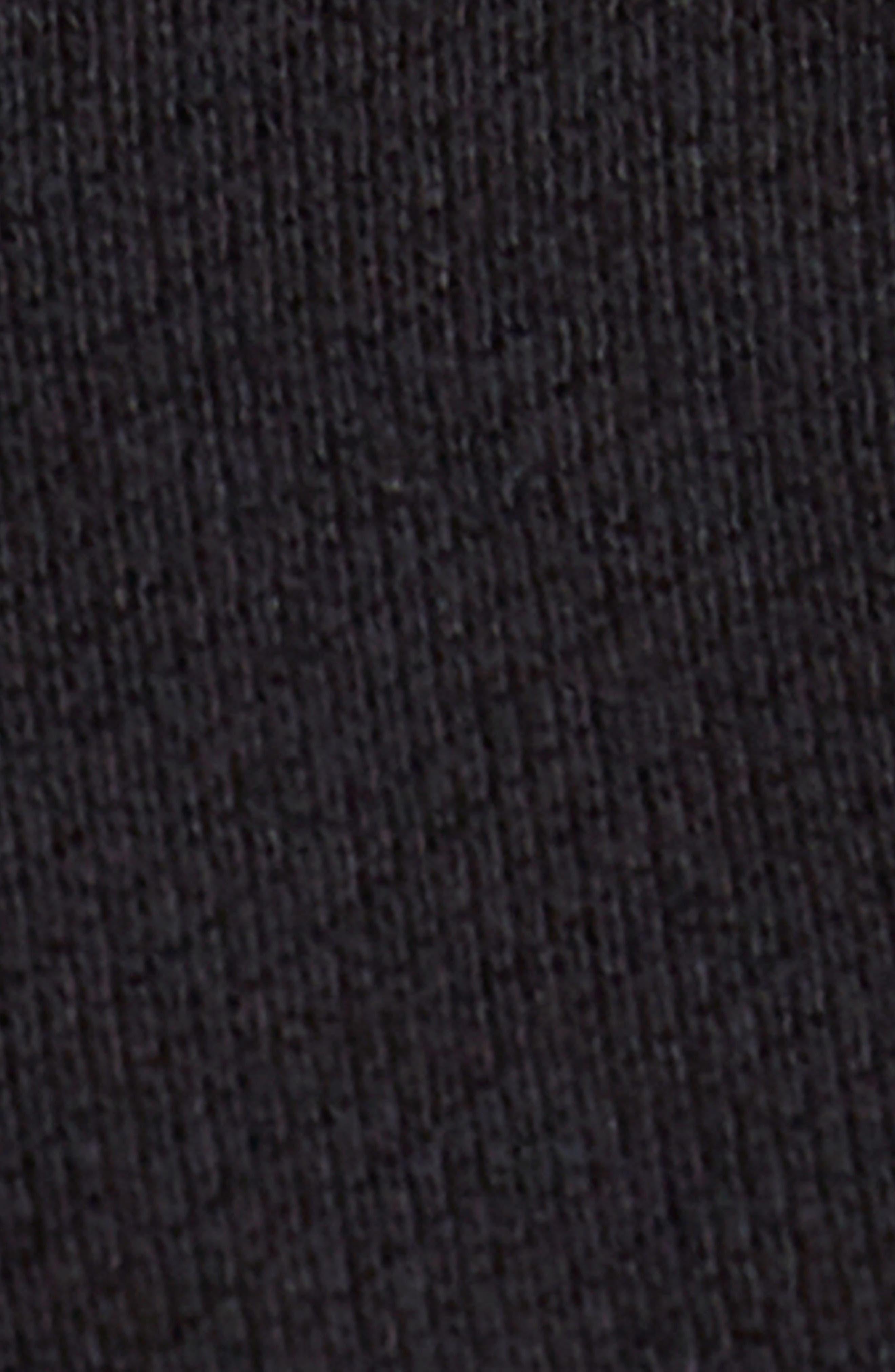 Jaxon Crop Turtleneck Sweatshirt,                             Alternate thumbnail 4, color,                             001