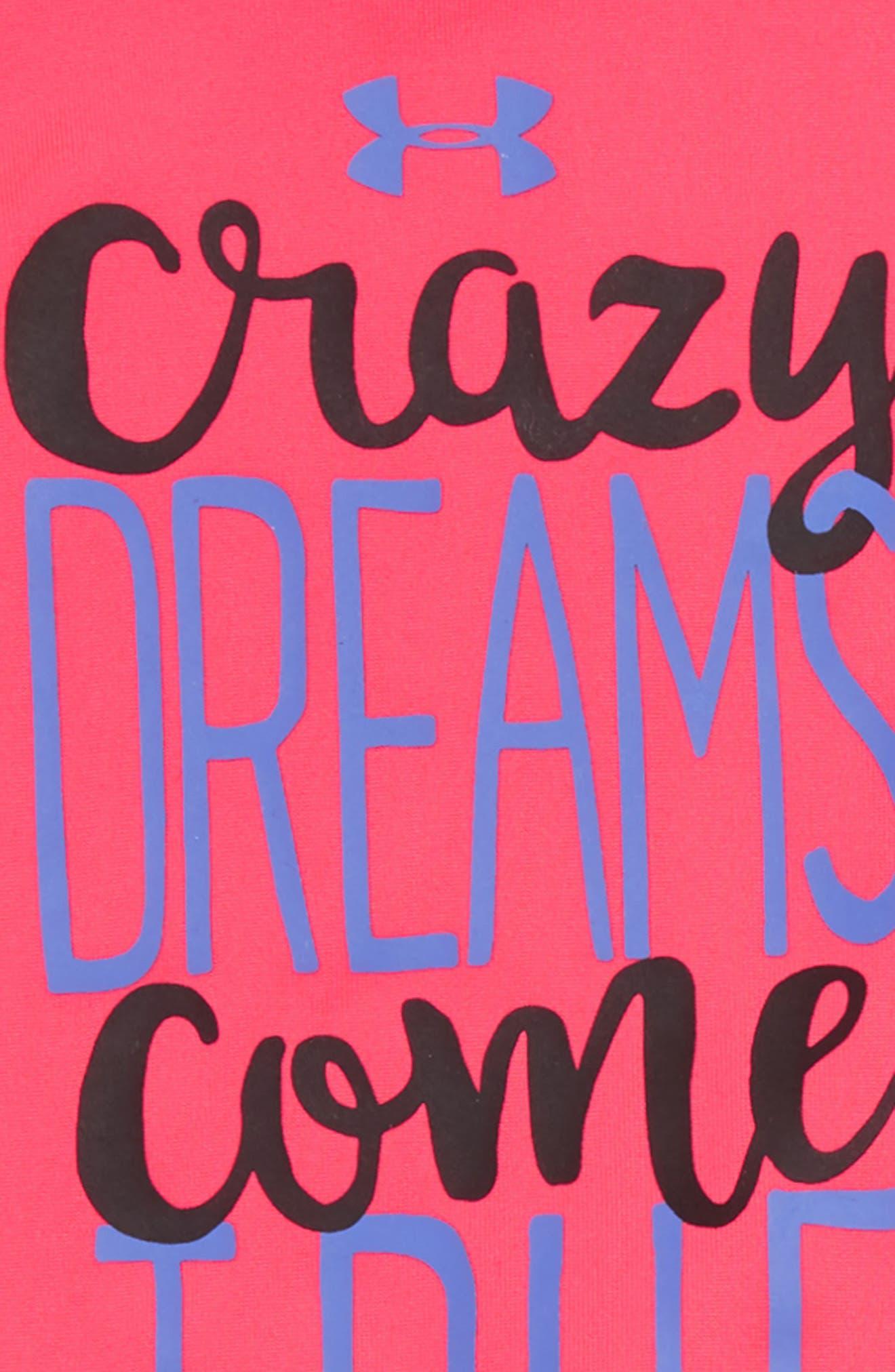 Crazy Dreams Come True Tee & Leggings Set,                             Alternate thumbnail 2, color,                             PENTA PINK