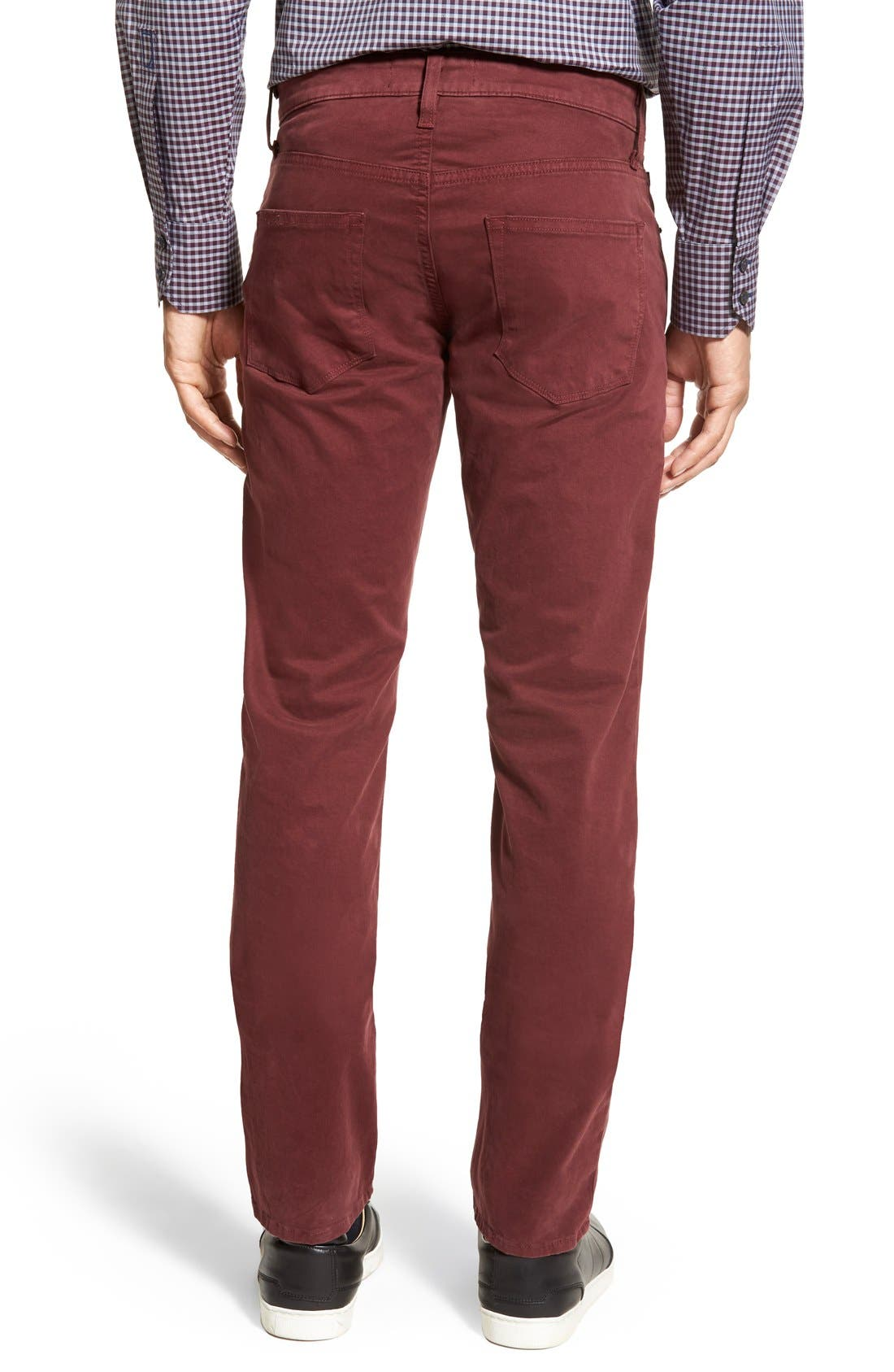 'Kane' Slim Fit Cotton Twill Pants,                             Alternate thumbnail 71, color,