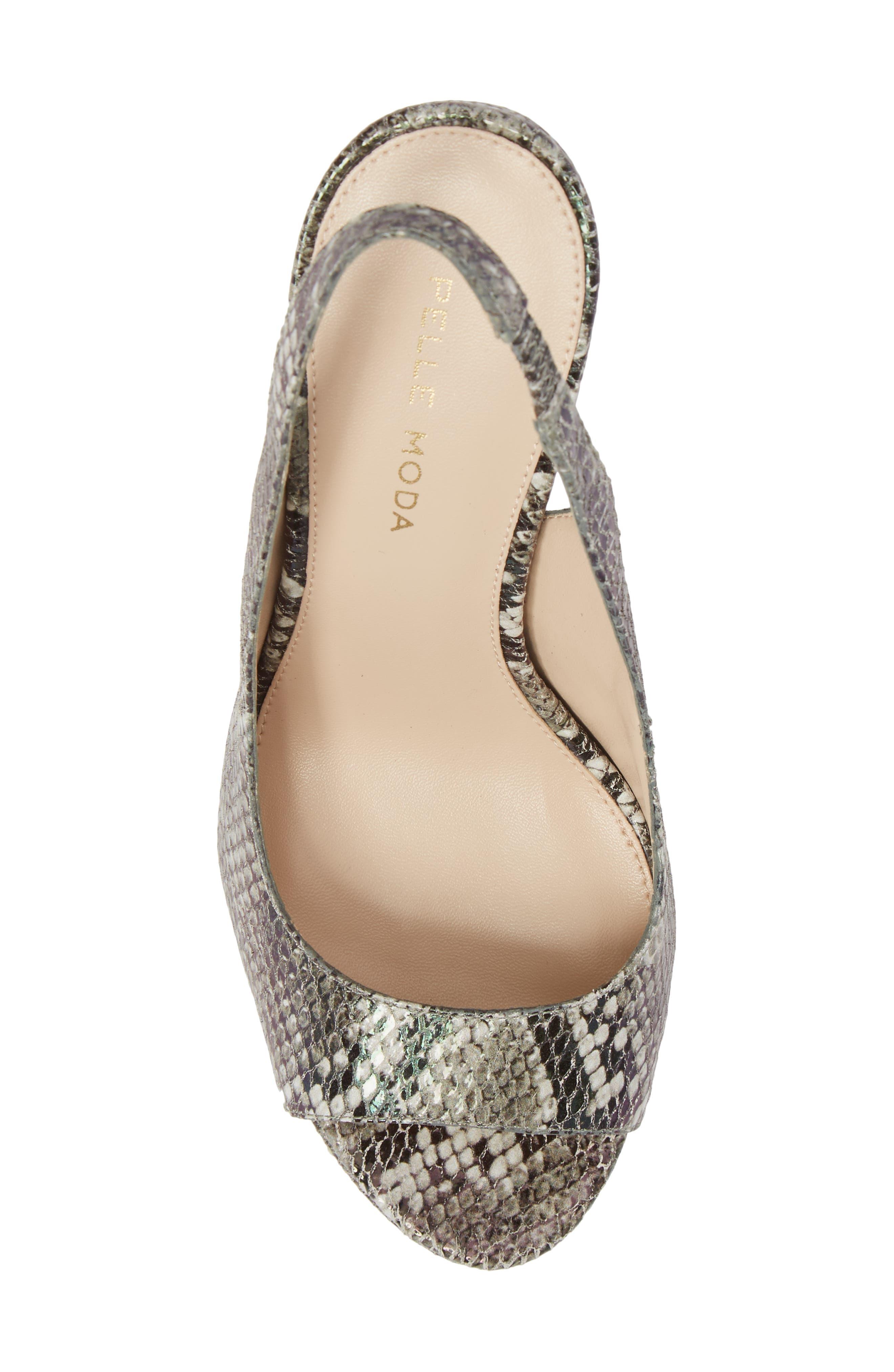 Oana Slingback Platform Sandal,                             Alternate thumbnail 5, color,                             022