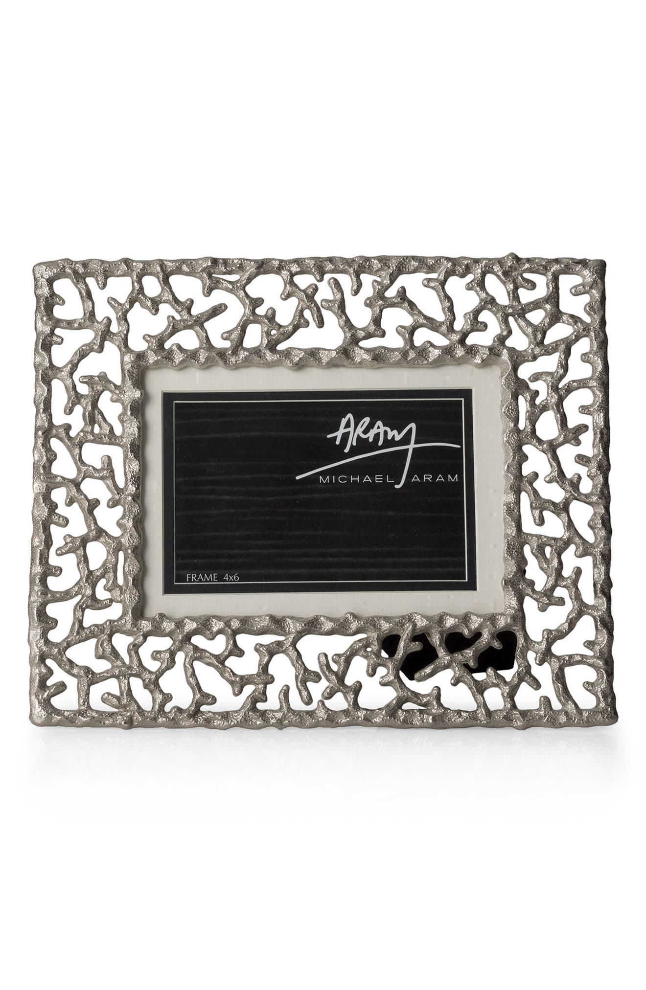 Ocean Reef Picture Frame,                             Main thumbnail 1, color,                             SILVER