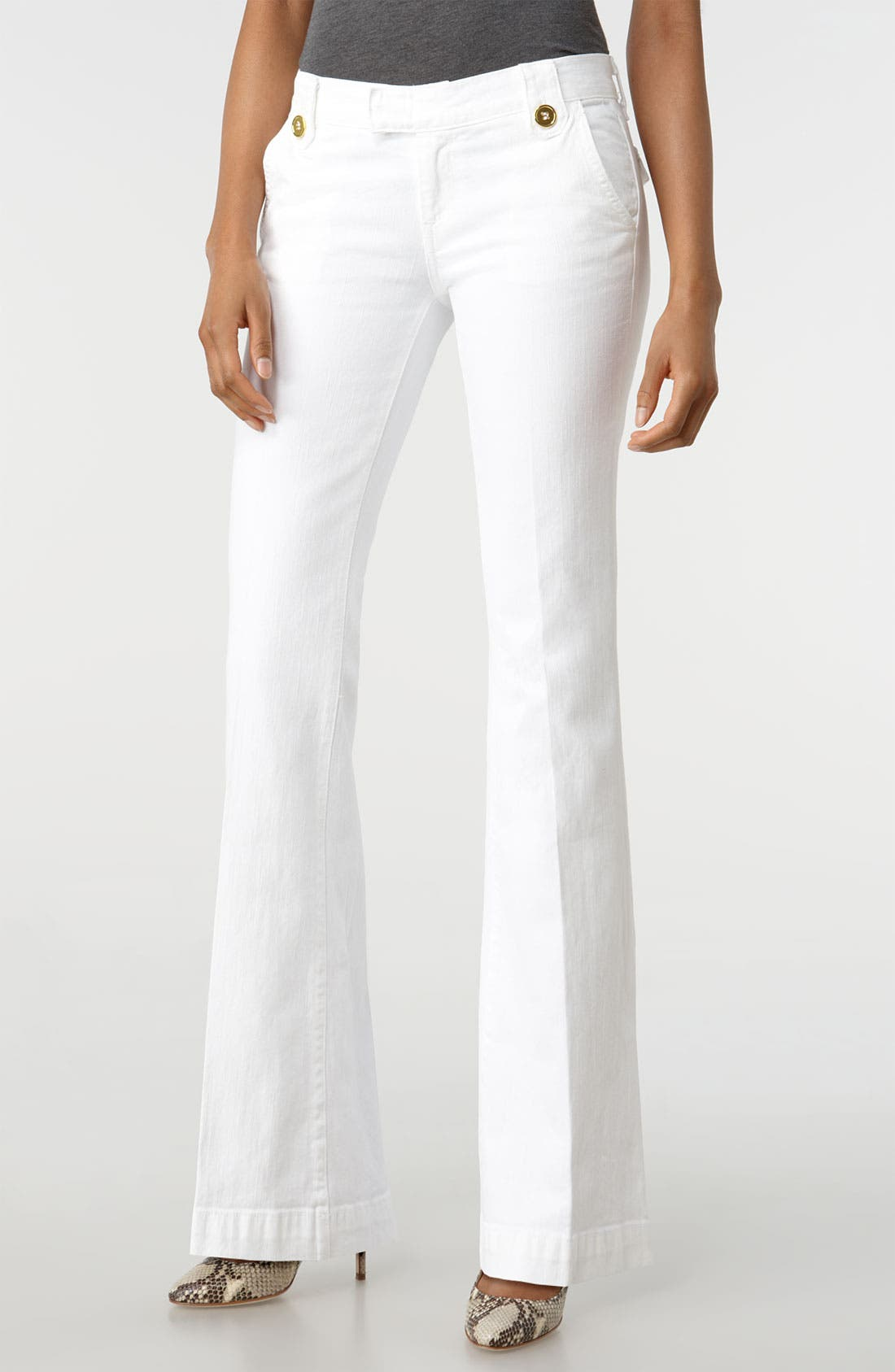 'Pascale' Stretch Trouser Jeans,                             Main thumbnail 1, color,                             100