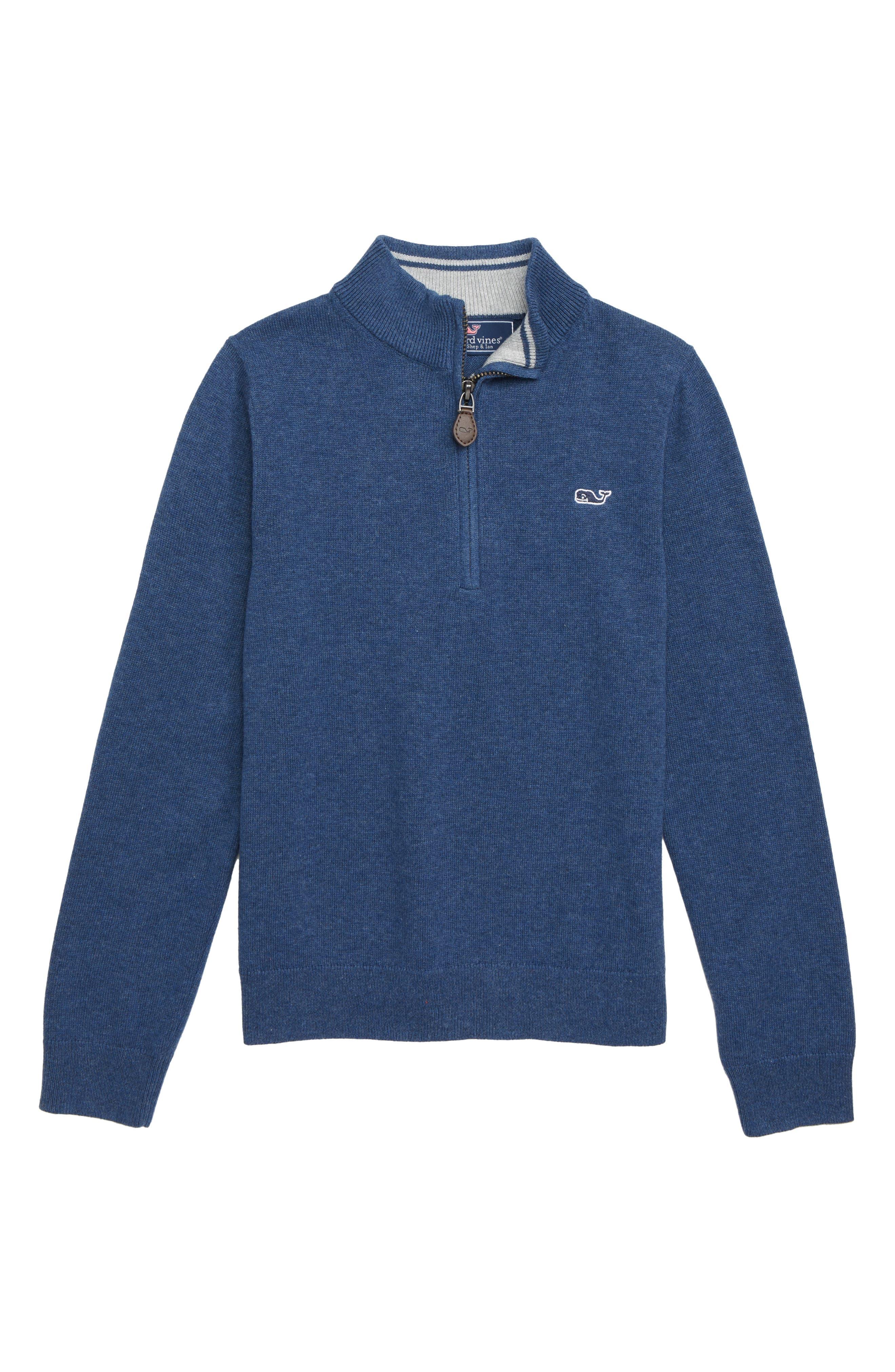 Boys Vineyard Vines Half Zip Sweater Size 5  Blue
