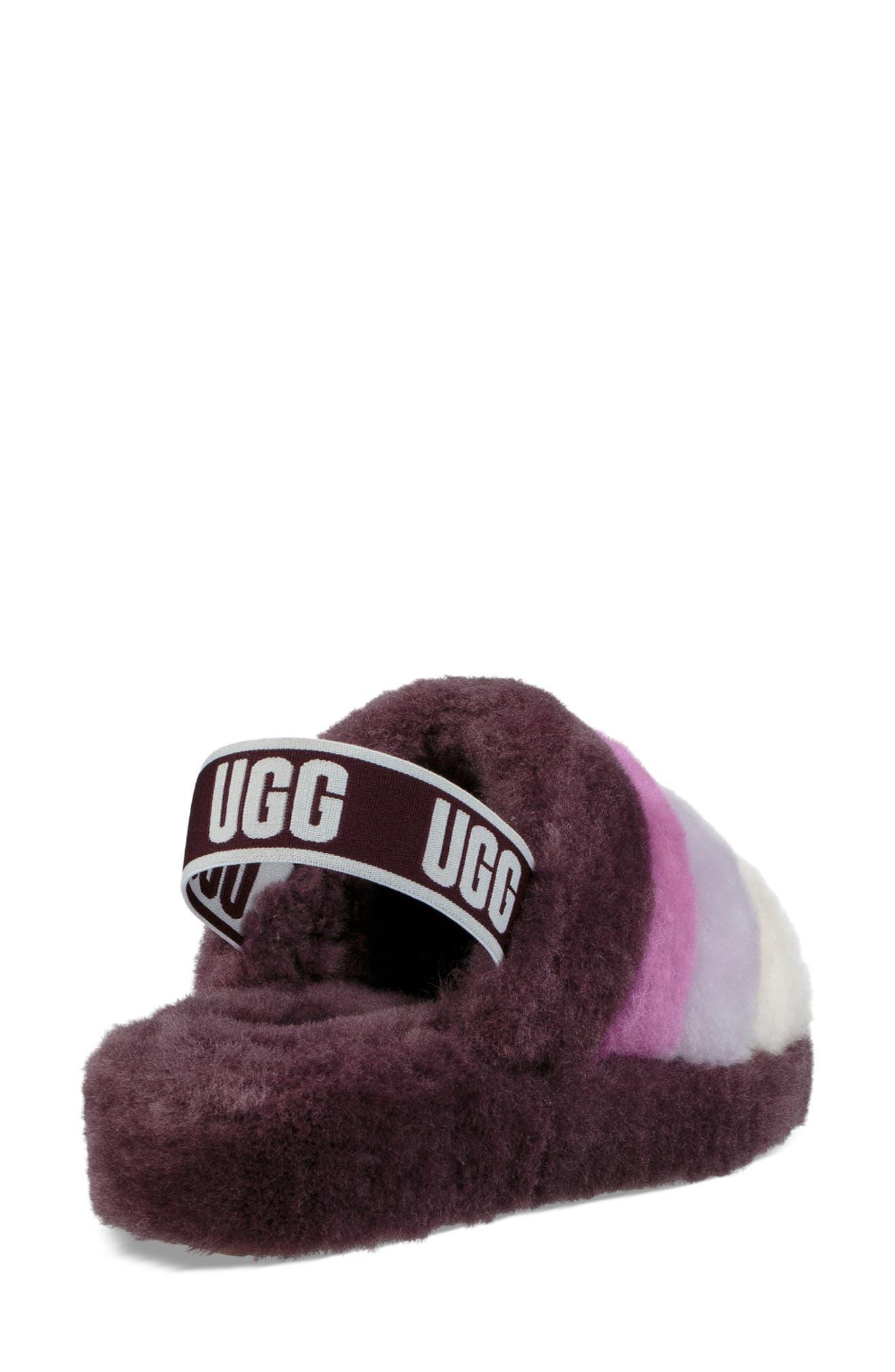 Ugg Fluff Yeah Genuine Shearling Slipper, Purple