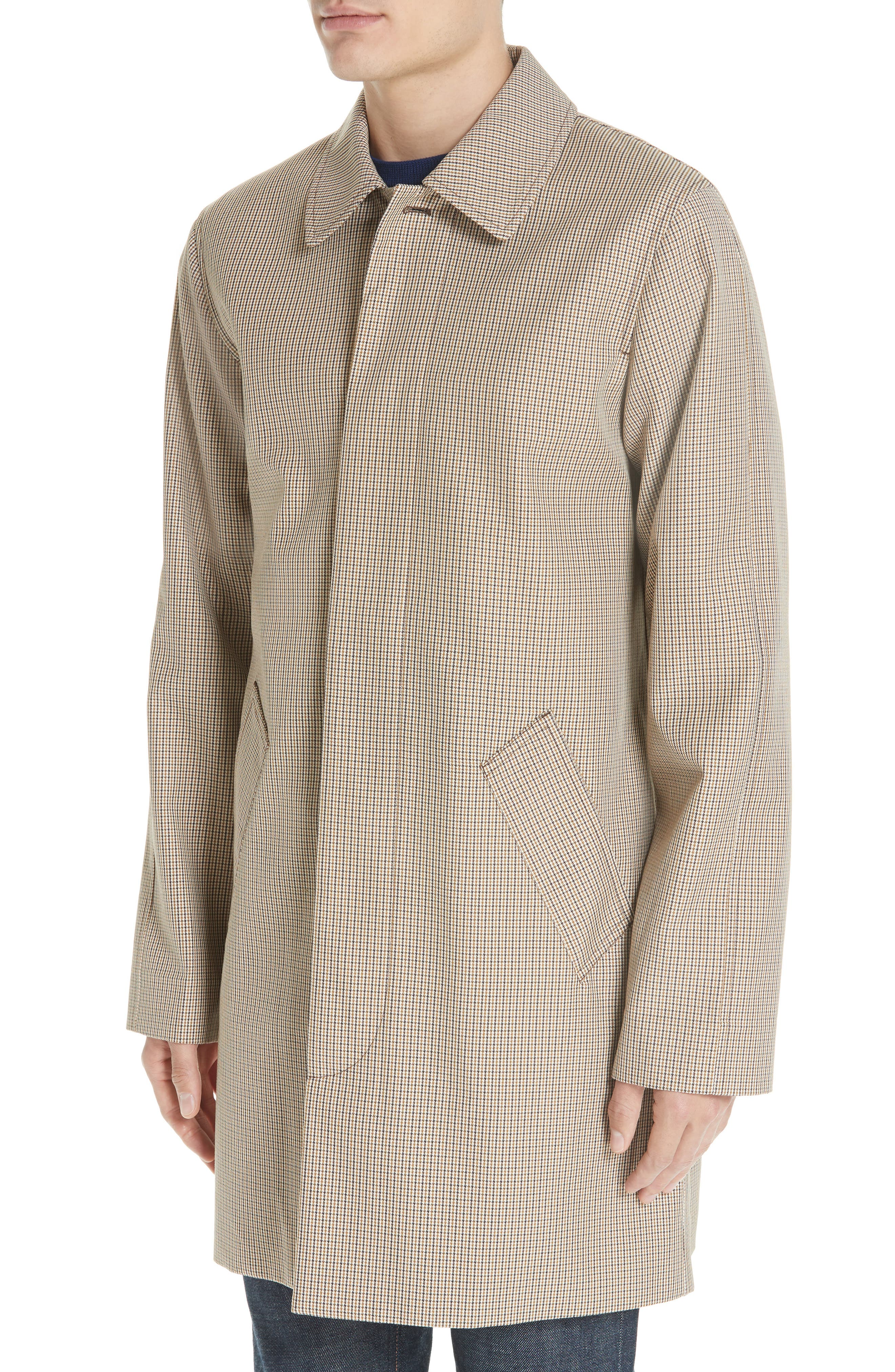 Puppytooth Check Mac Coat,                             Alternate thumbnail 4, color,                             251
