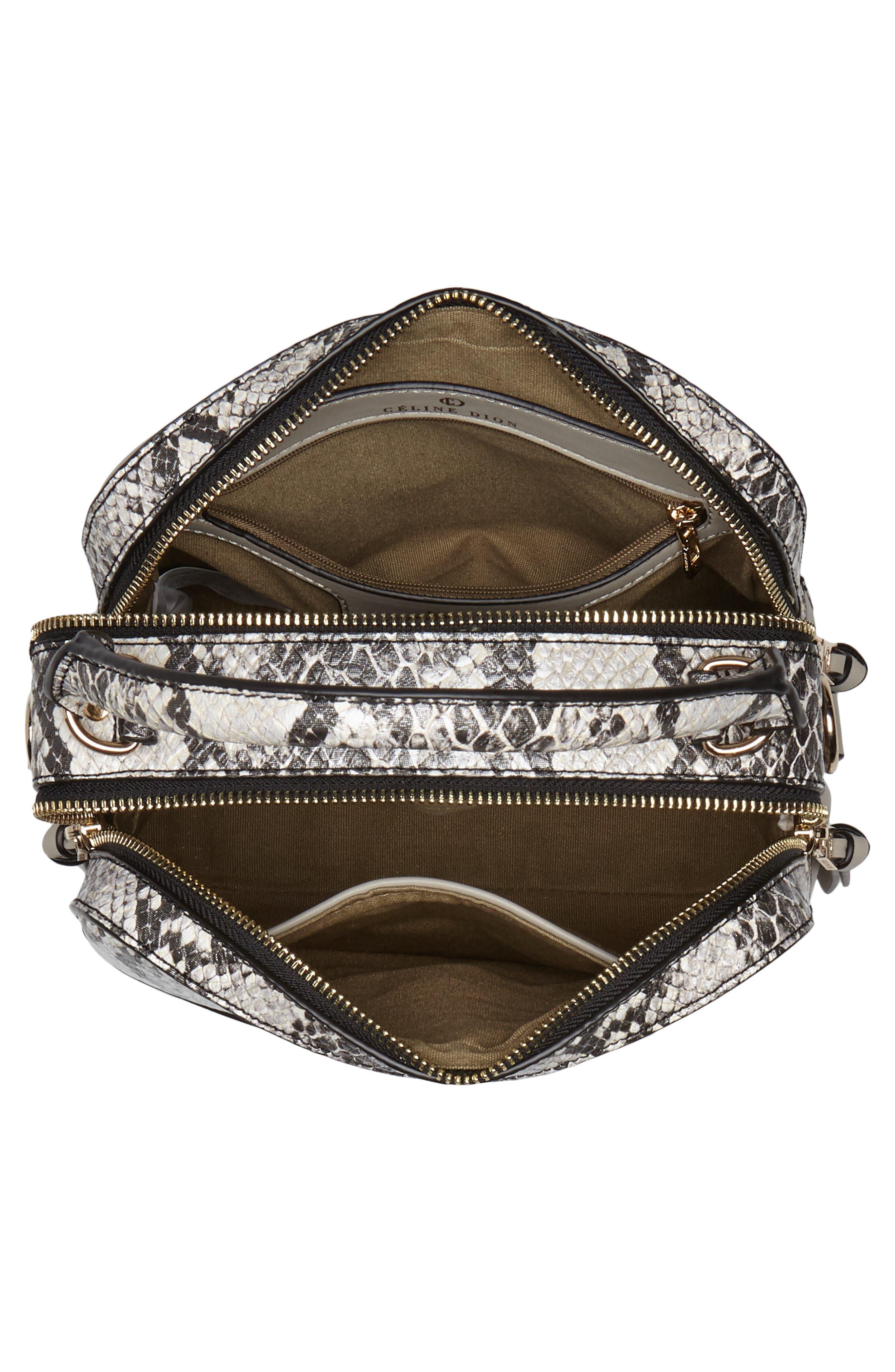 Céline Dion Motif Top Handle Leather Satchel,                             Alternate thumbnail 11, color,