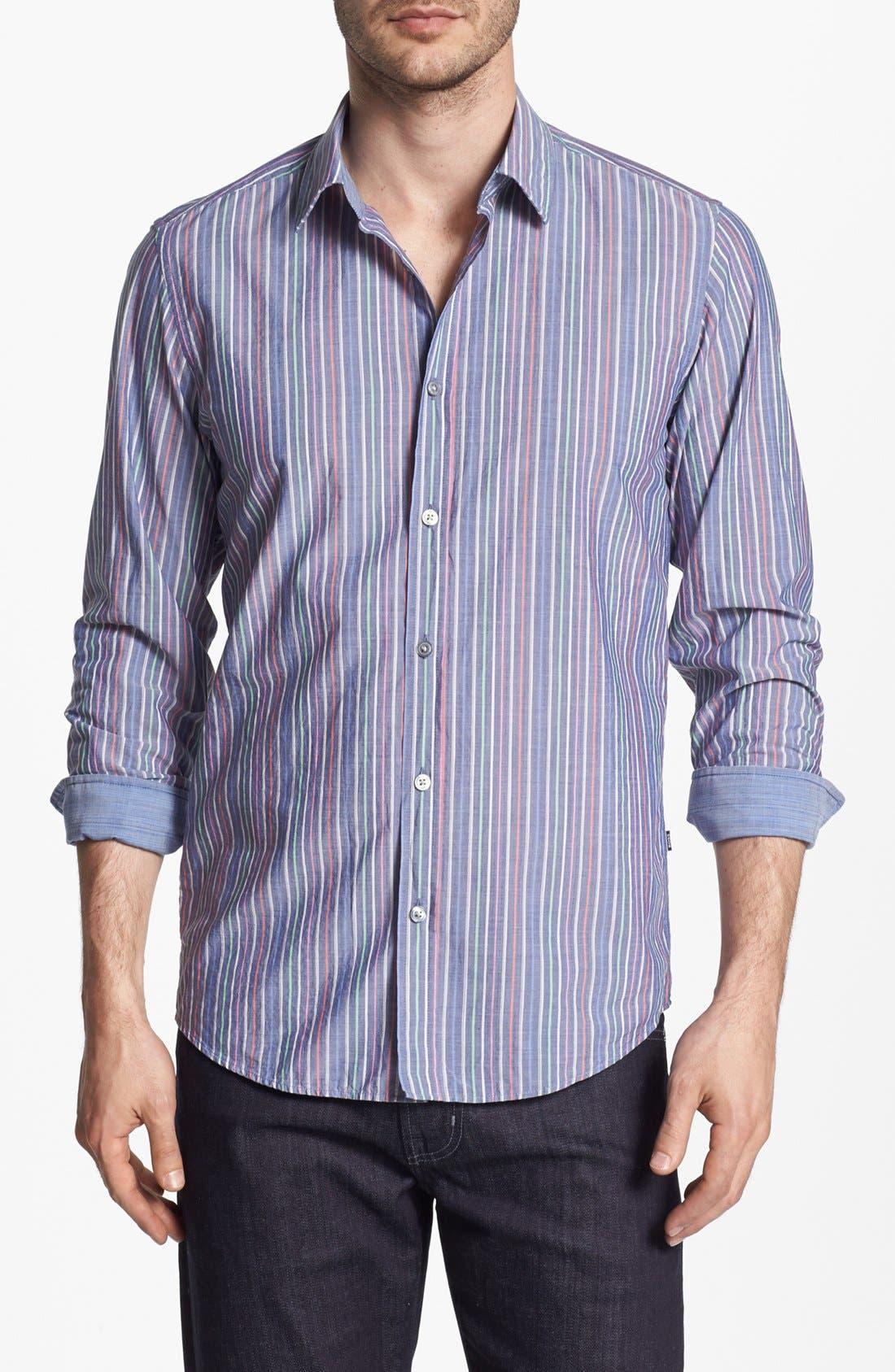 BOSS HUGO BOSS 'Lucas' Regular Fit Sport Shirt, Main, color, 460