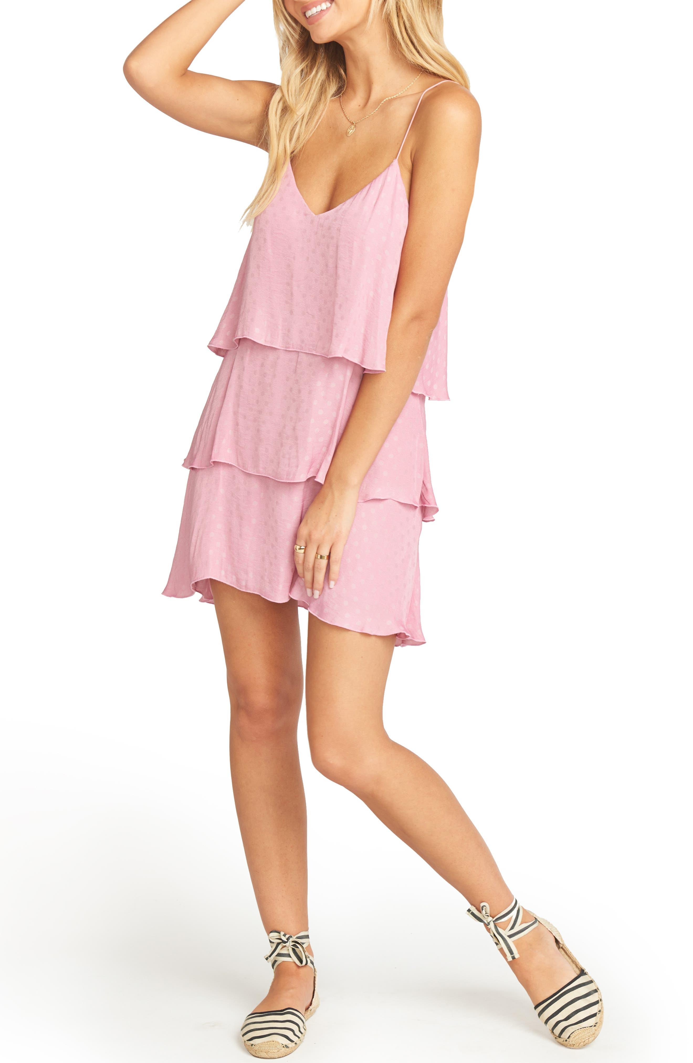 Show Me Your Mumu Suarez Ruffle Dress, Pink