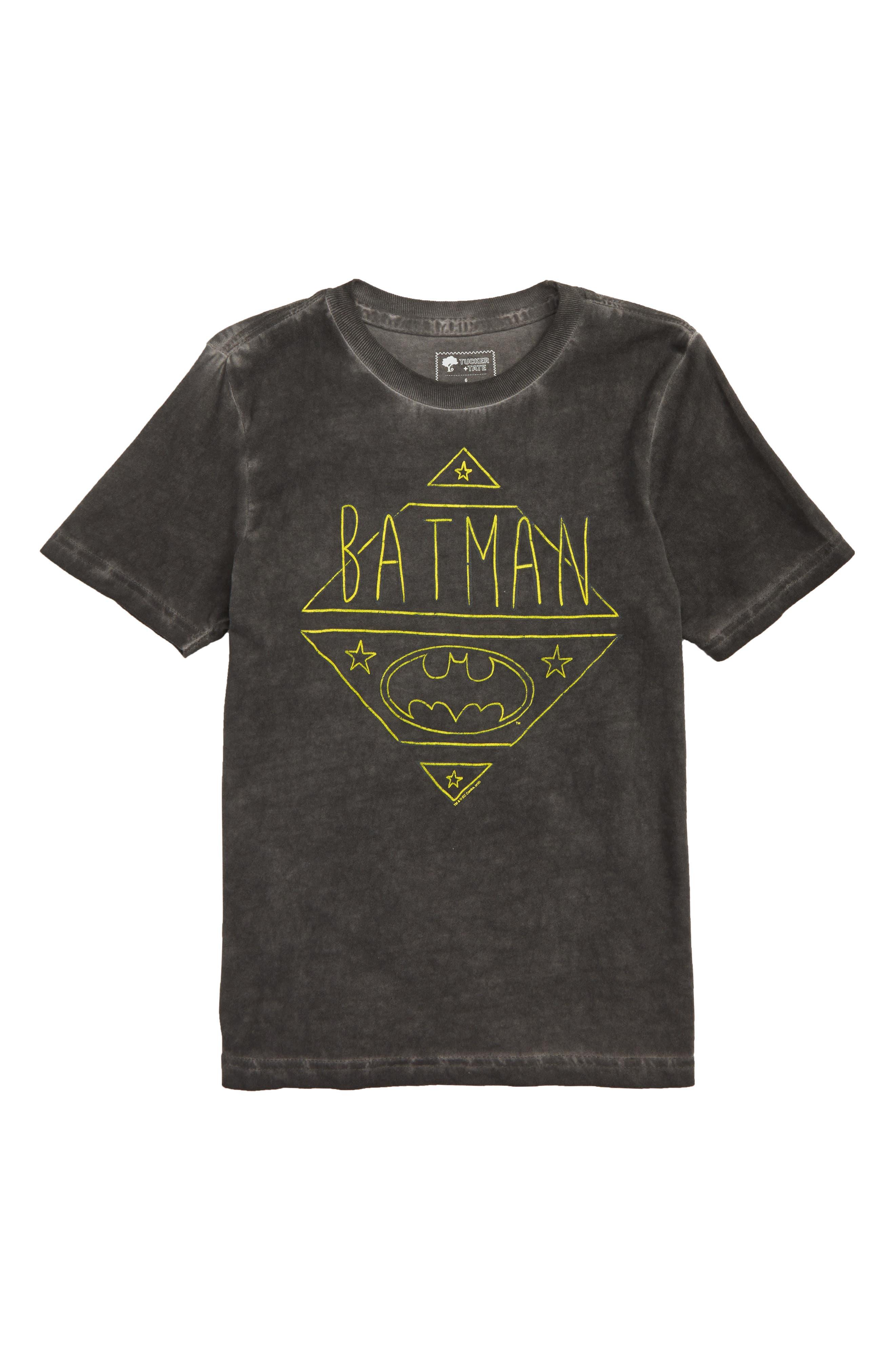 DC Comics Washed Graphic T-Shirt,                             Main thumbnail 1, color,                             NAVY CAPTAIN BATMAN