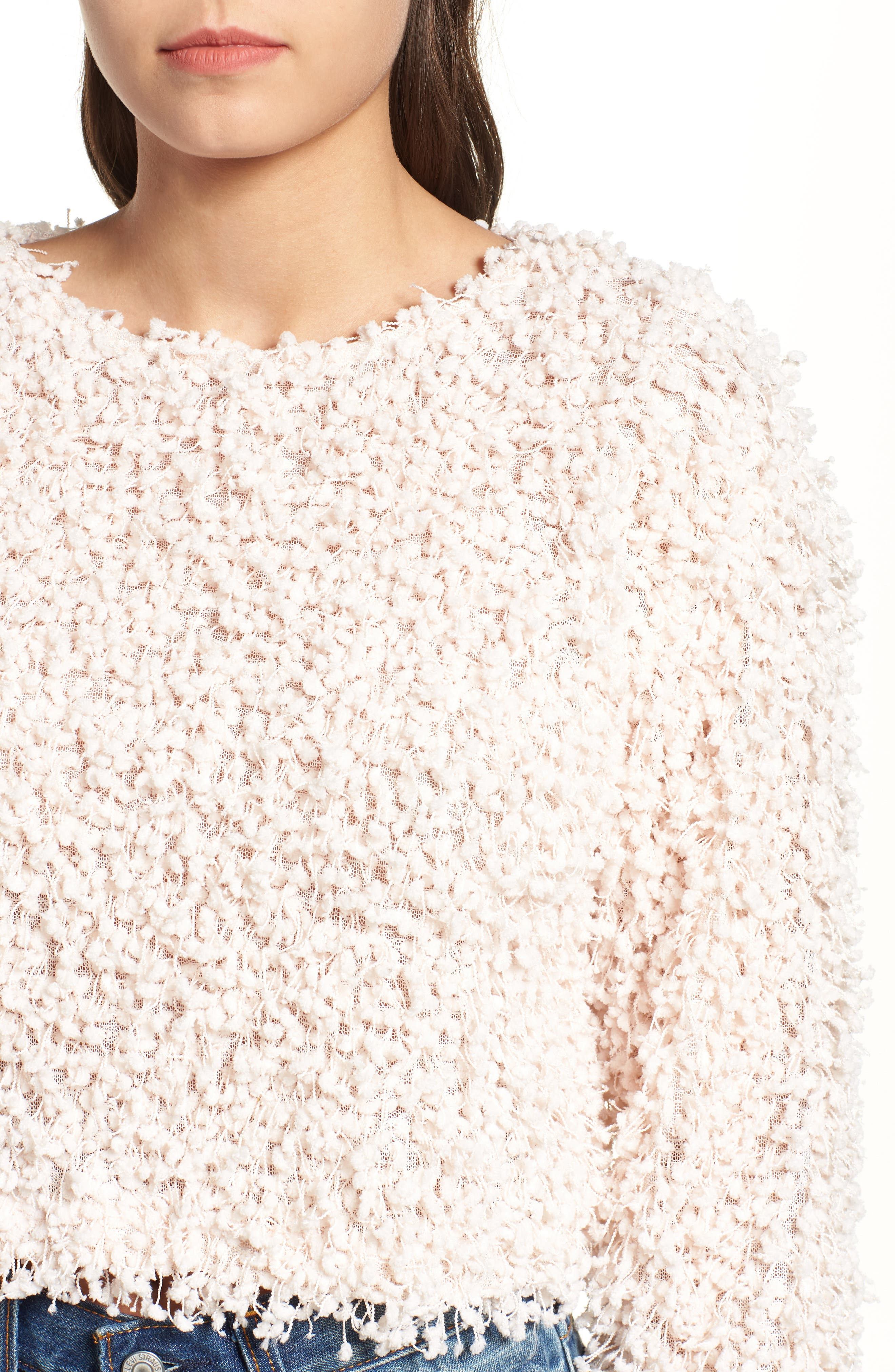 Glorious Crop Sweater,                             Alternate thumbnail 4, color,                             CREAM
