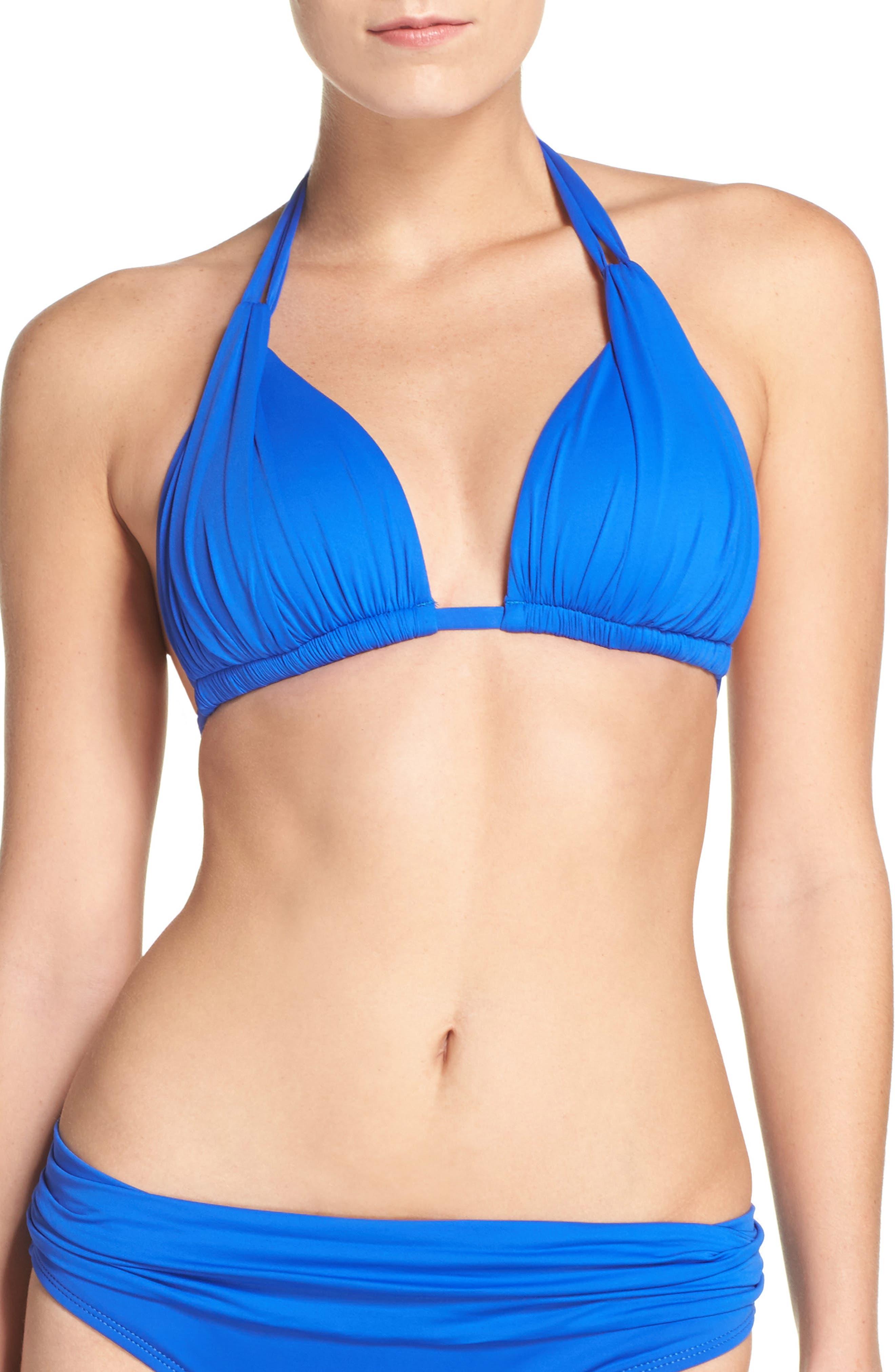 Island Blanca Halter Bikini Top,                             Main thumbnail 7, color,