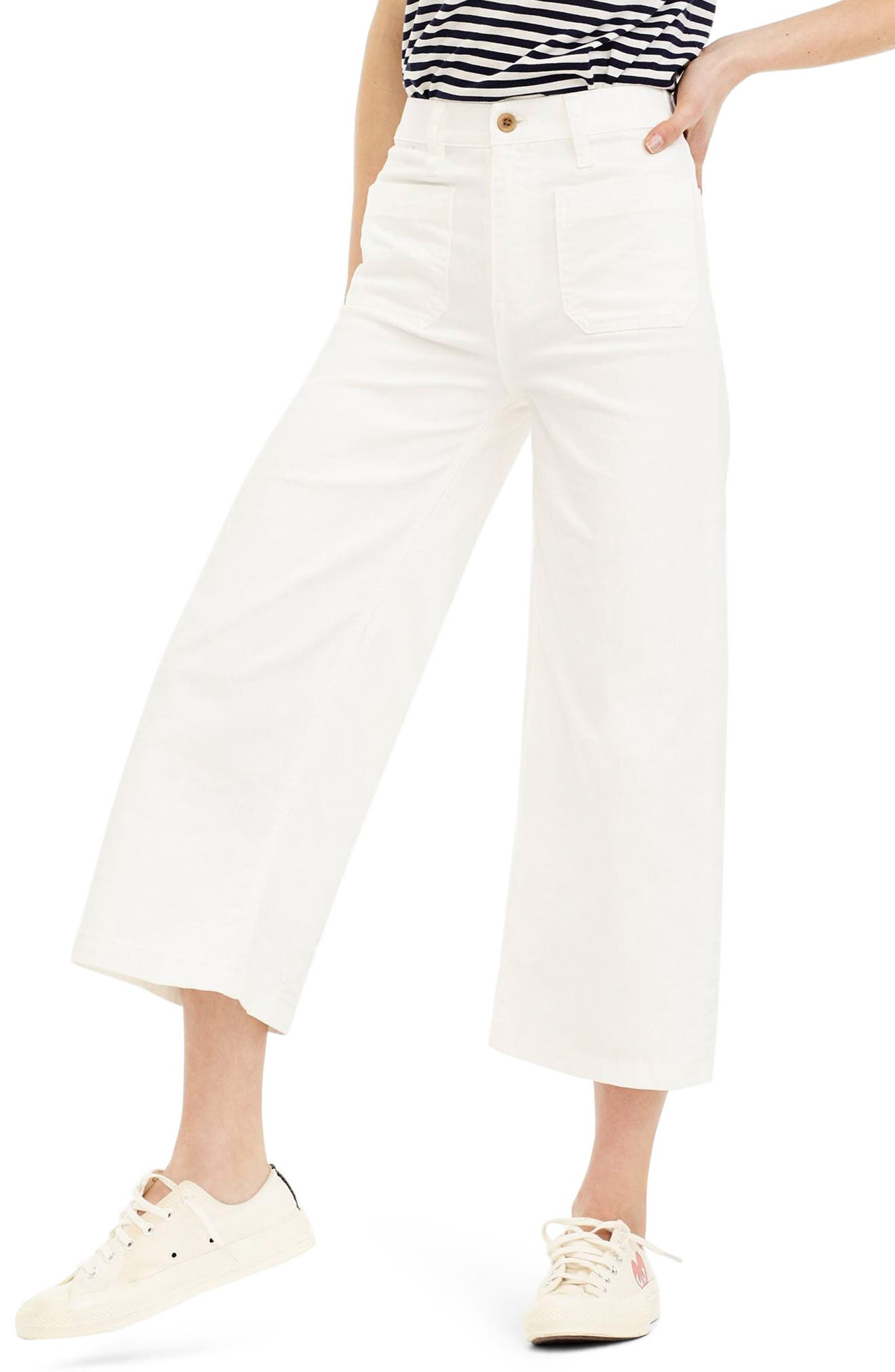 Point Sur Wide Leg Crop Jeans,                         Main,                         color, 100