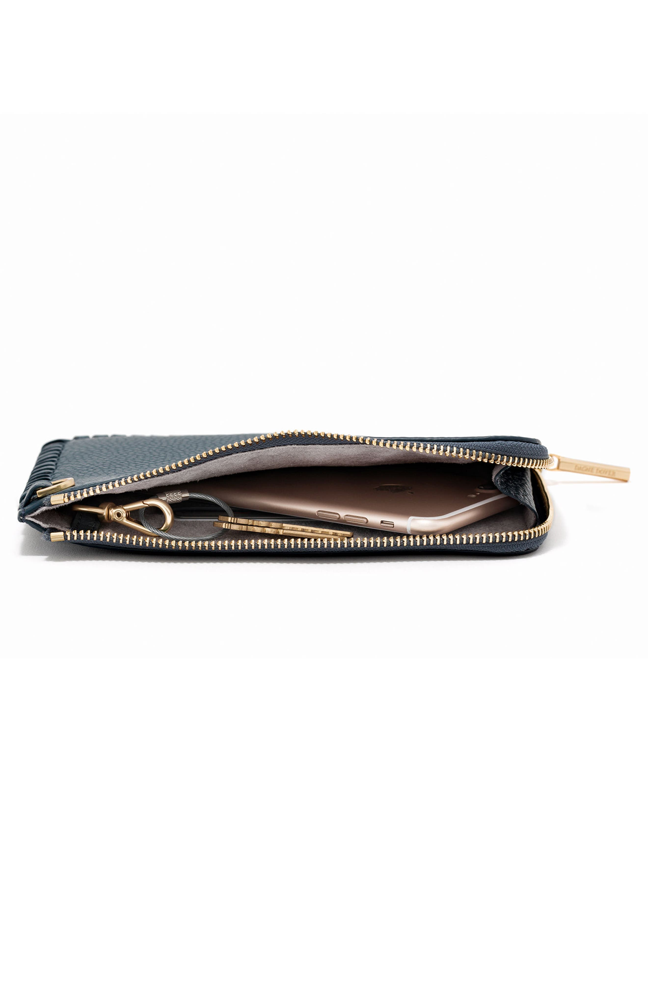 Small Elle Leather Clutch,                             Alternate thumbnail 21, color,