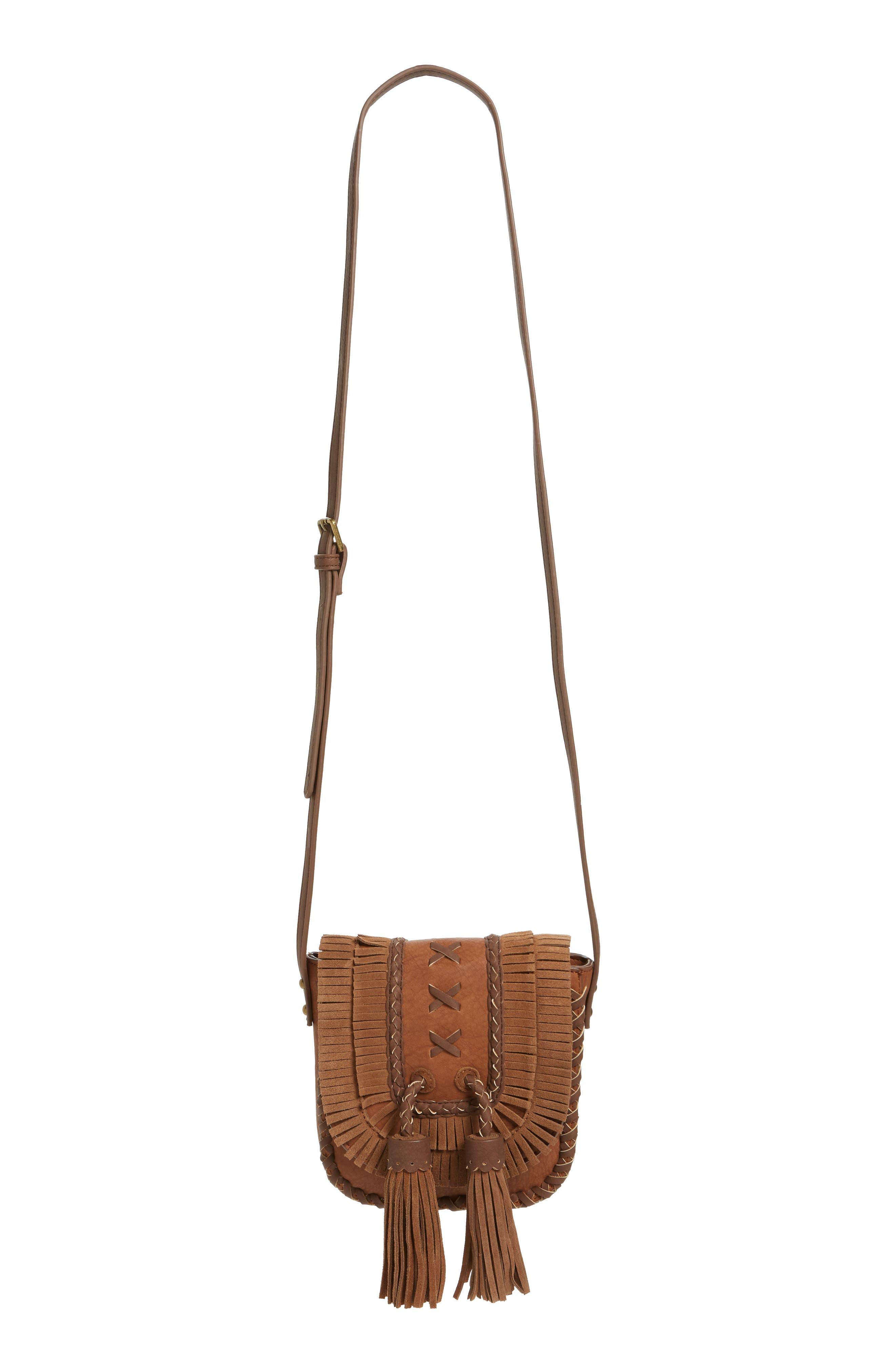 Jkorina Tassel Crossbody Saddle Bag,                         Main,                         color, 200