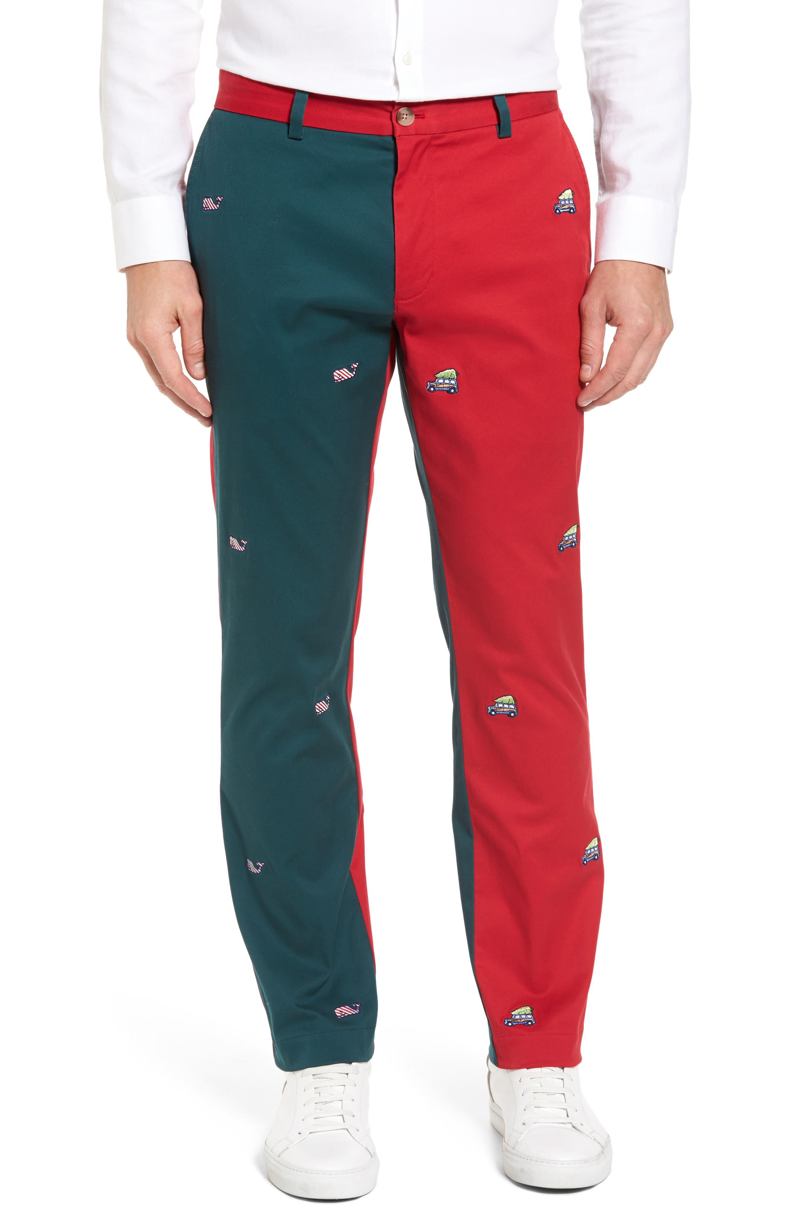 Breaker Embroidered Pieced Pants,                             Main thumbnail 1, color,