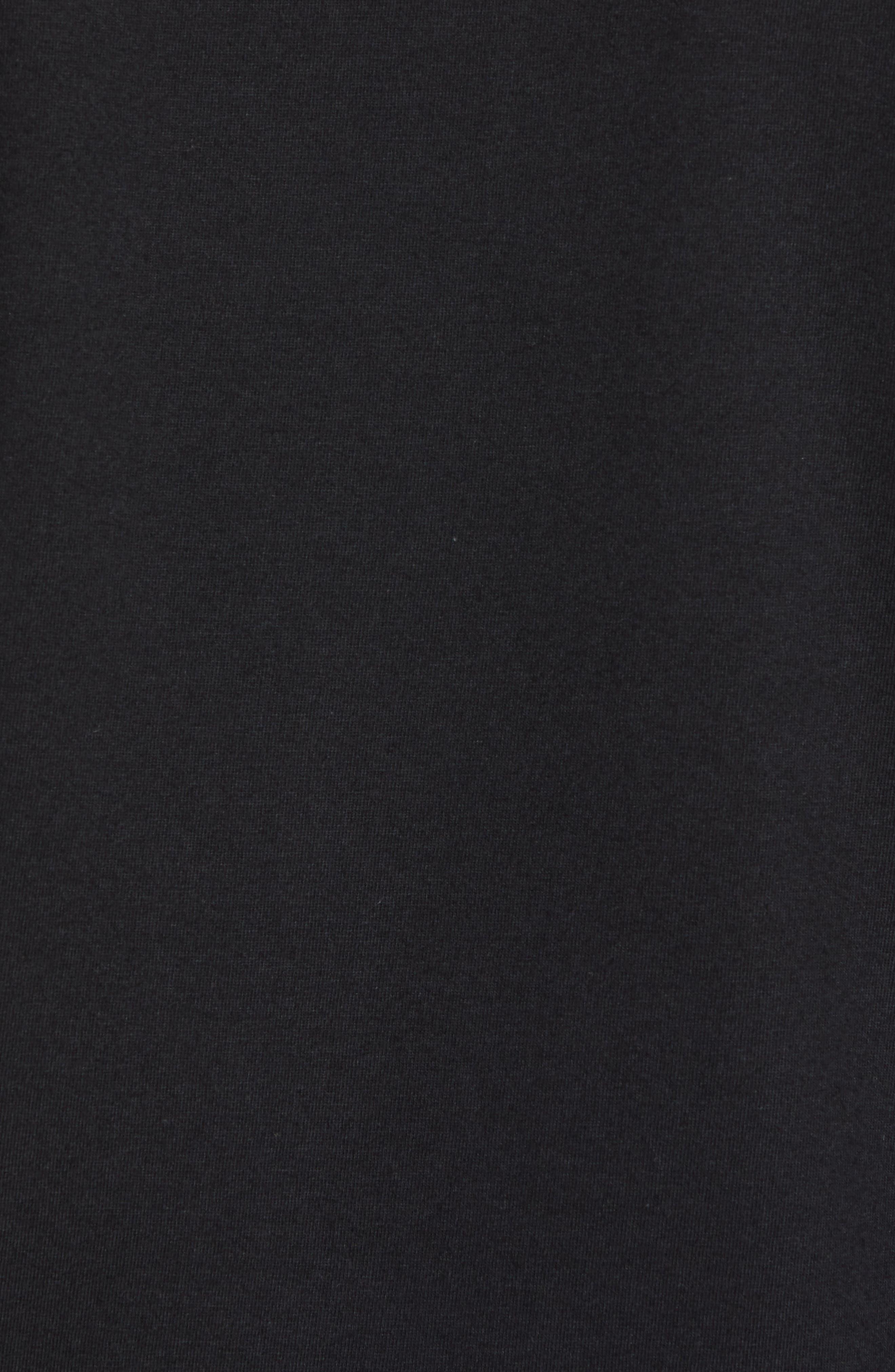 Dry Pointguard Graphic T-Shirt,                             Alternate thumbnail 5, color,                             BLACK/ BLACK
