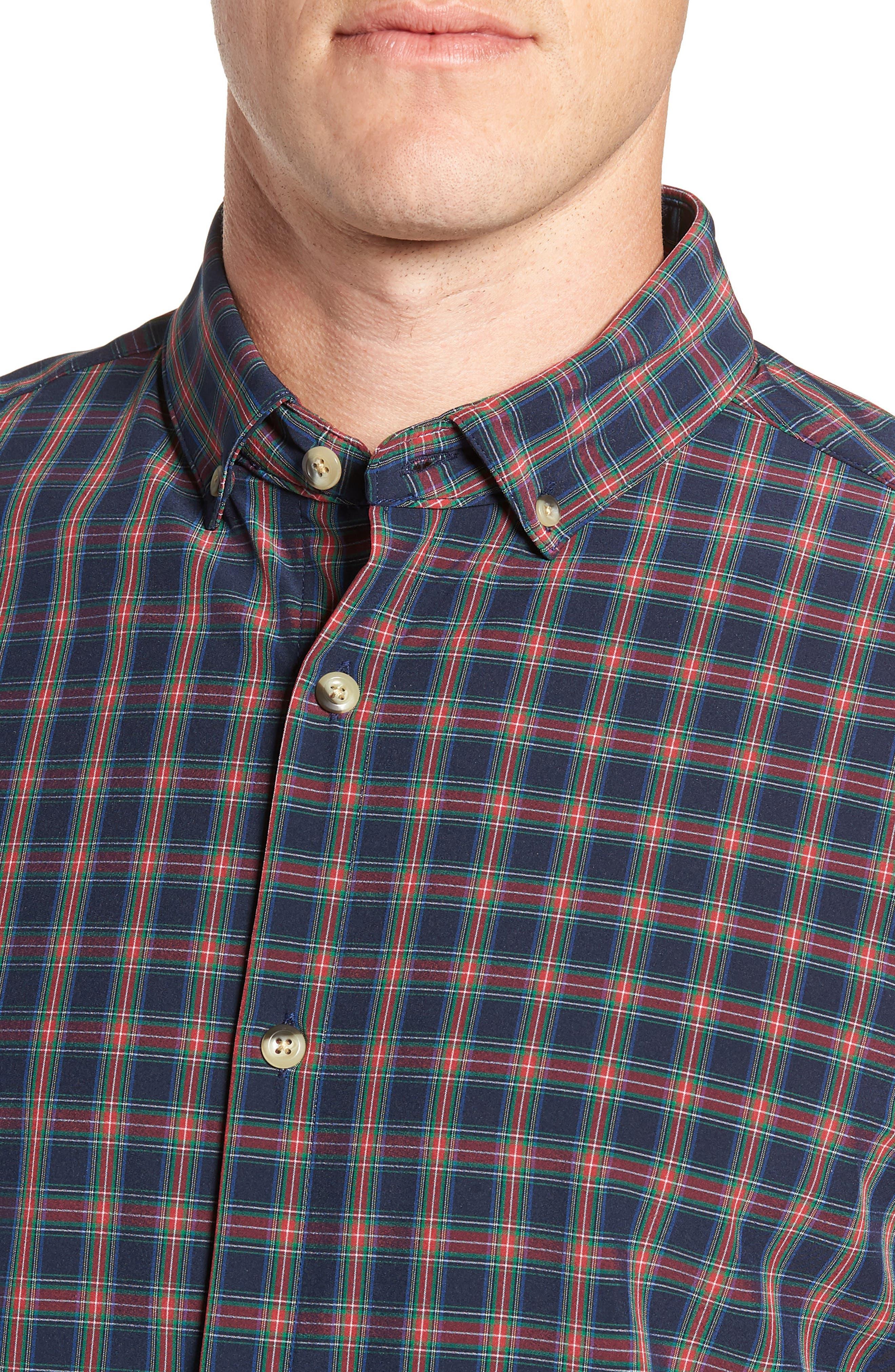 Lockhart Plaid Performance Sport Shirt,                             Alternate thumbnail 2, color,                             RED