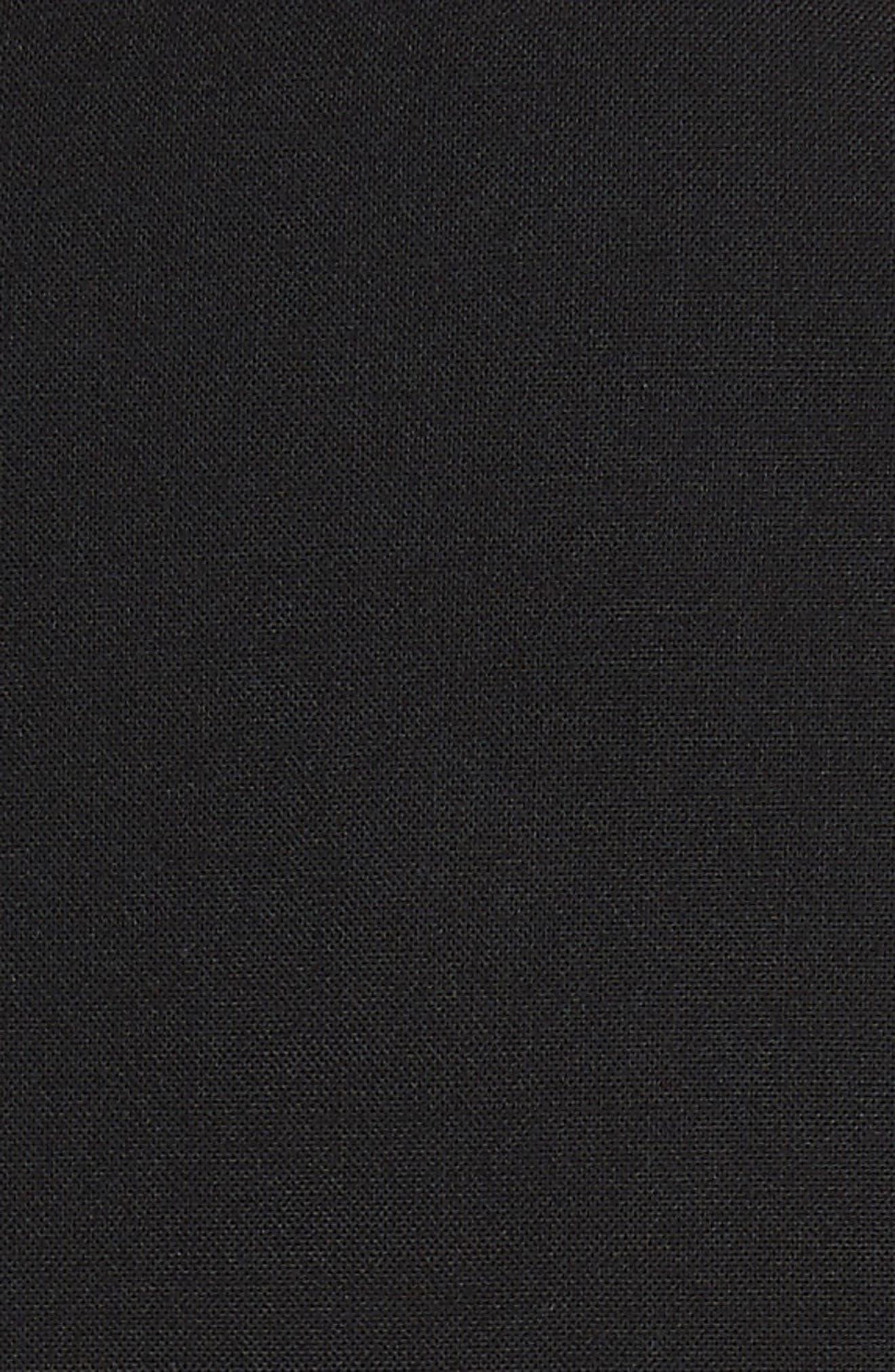 Risbana Good Wool A-Line Dress,                             Alternate thumbnail 6, color,                             BLACK