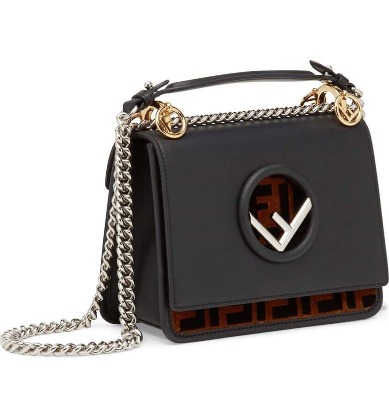 Fendi Small Kan I Logo Leather Shoulder Bag  15400acc6dc6e