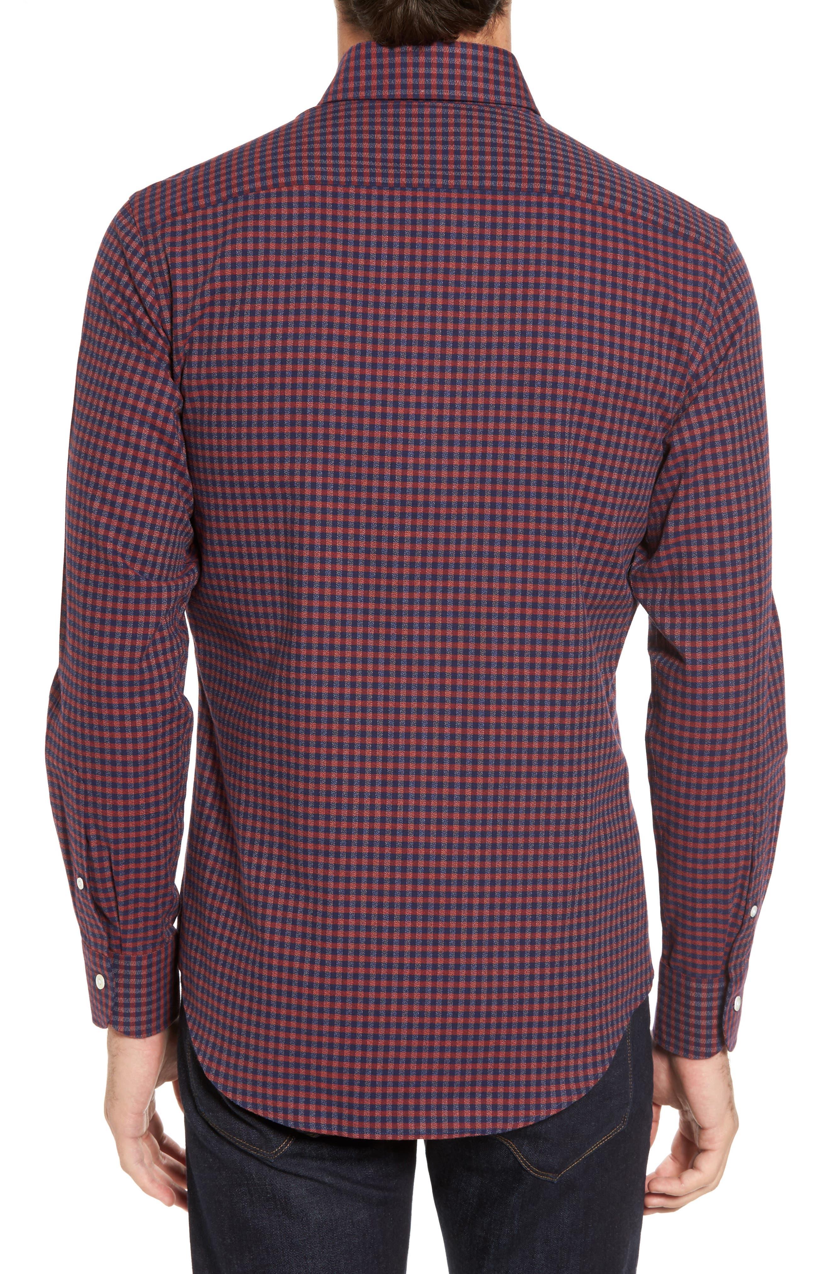 Slim Fit Check Sport Shirt,                             Alternate thumbnail 2, color,                             600