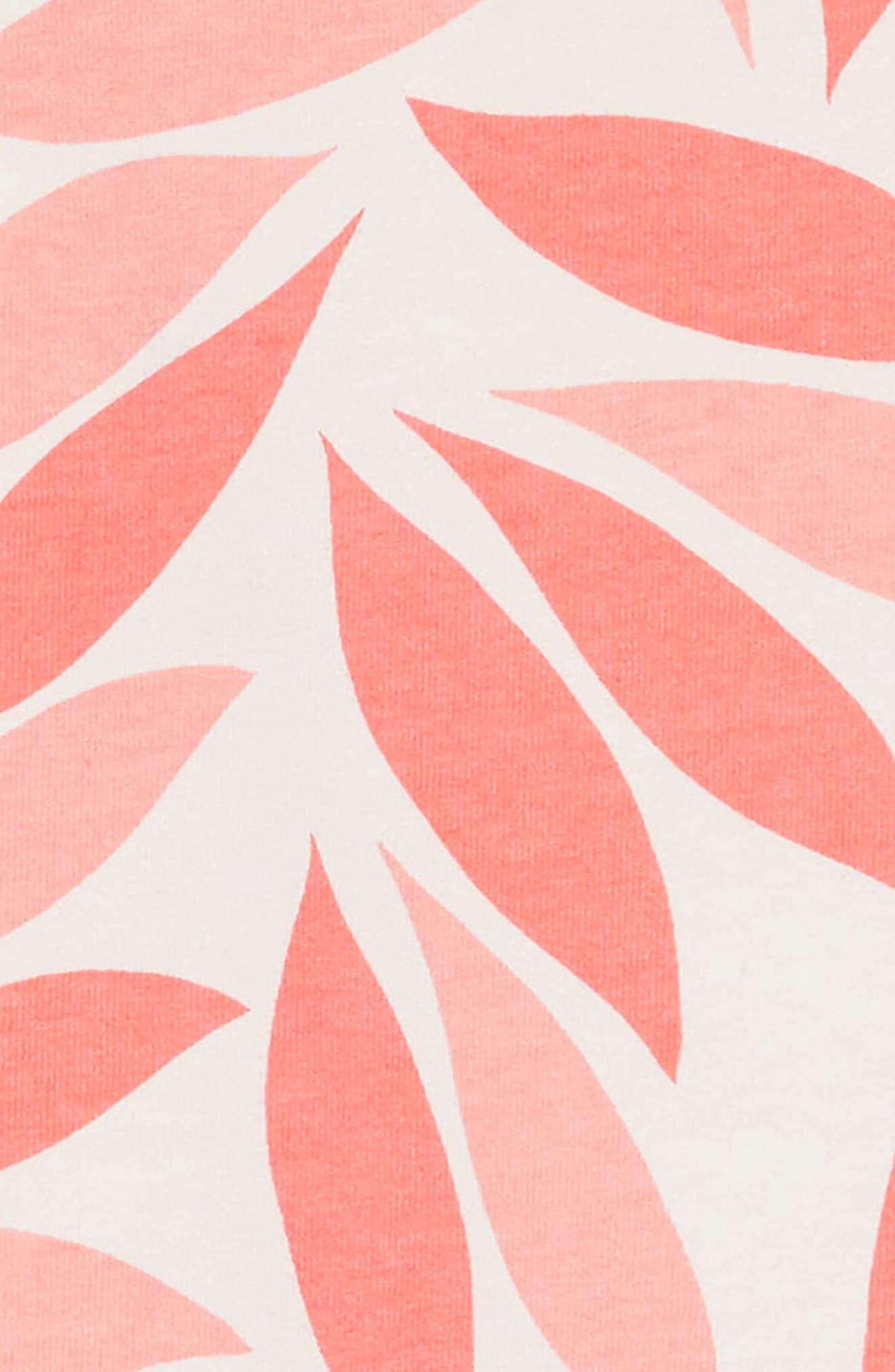 Coral Petal Ruffle Hem Dress,                             Alternate thumbnail 3, color,                             AZALEA MULTI