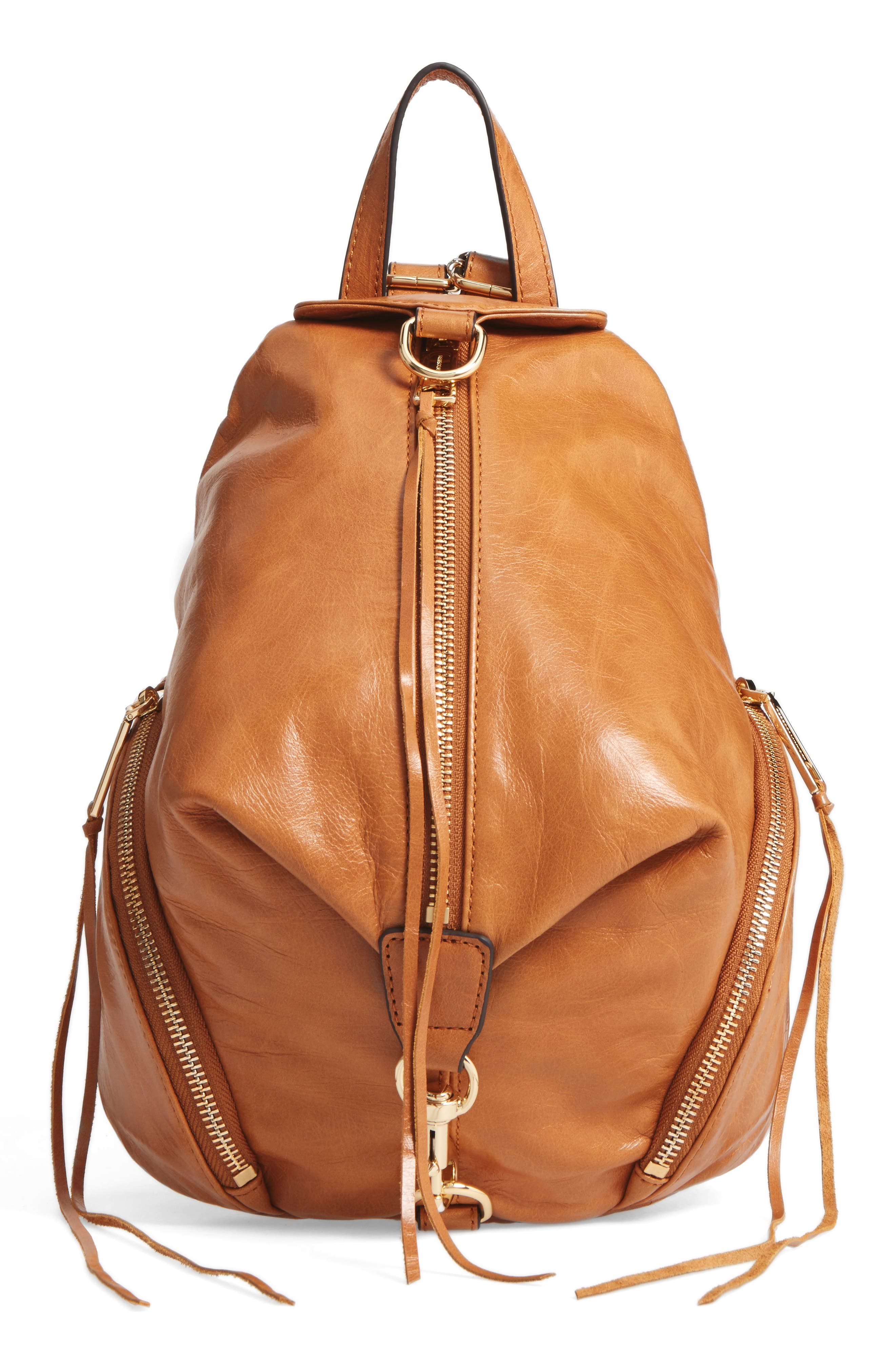 Medium Julian Leather Backpack,                             Main thumbnail 4, color,