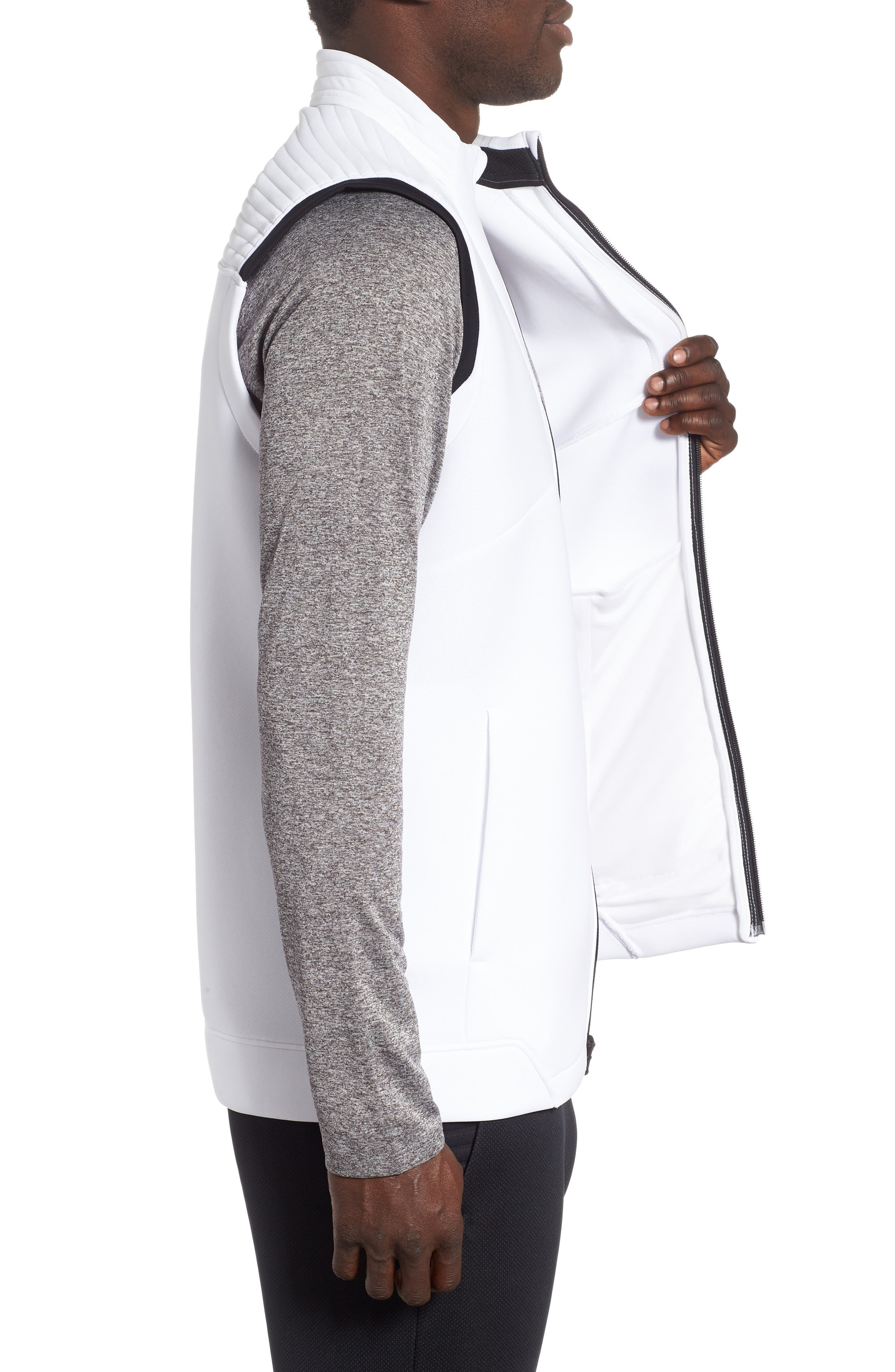 Storm Daytona Vest,                             Alternate thumbnail 3, color,                             WHITE/ BLACK/ BLACK