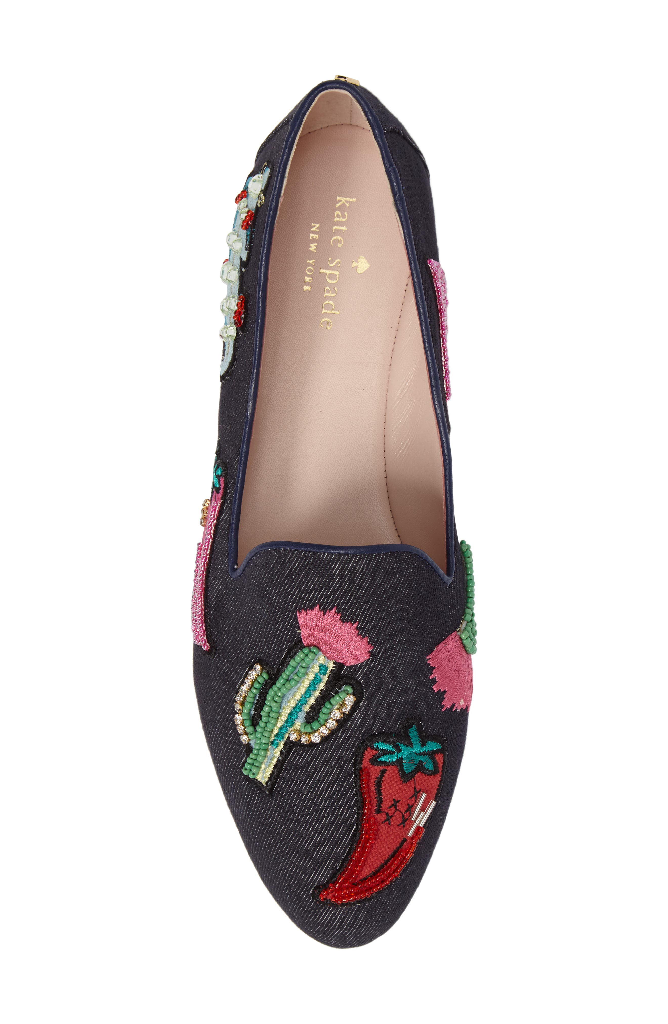 saville embroidered loafer,                             Alternate thumbnail 5, color,                             489