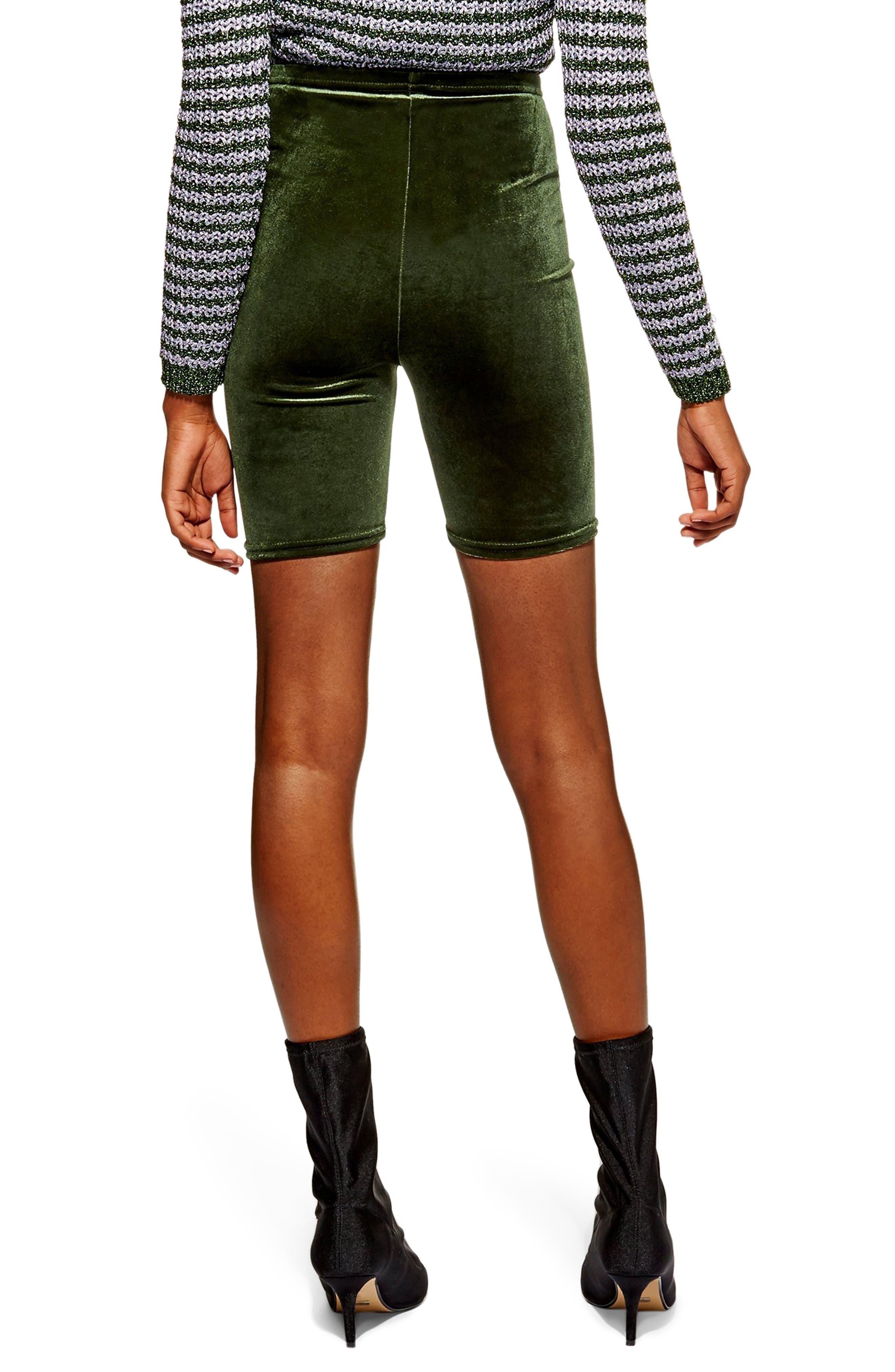 Velvet Cycling Shorts,                             Alternate thumbnail 2, color,                             OLIVE