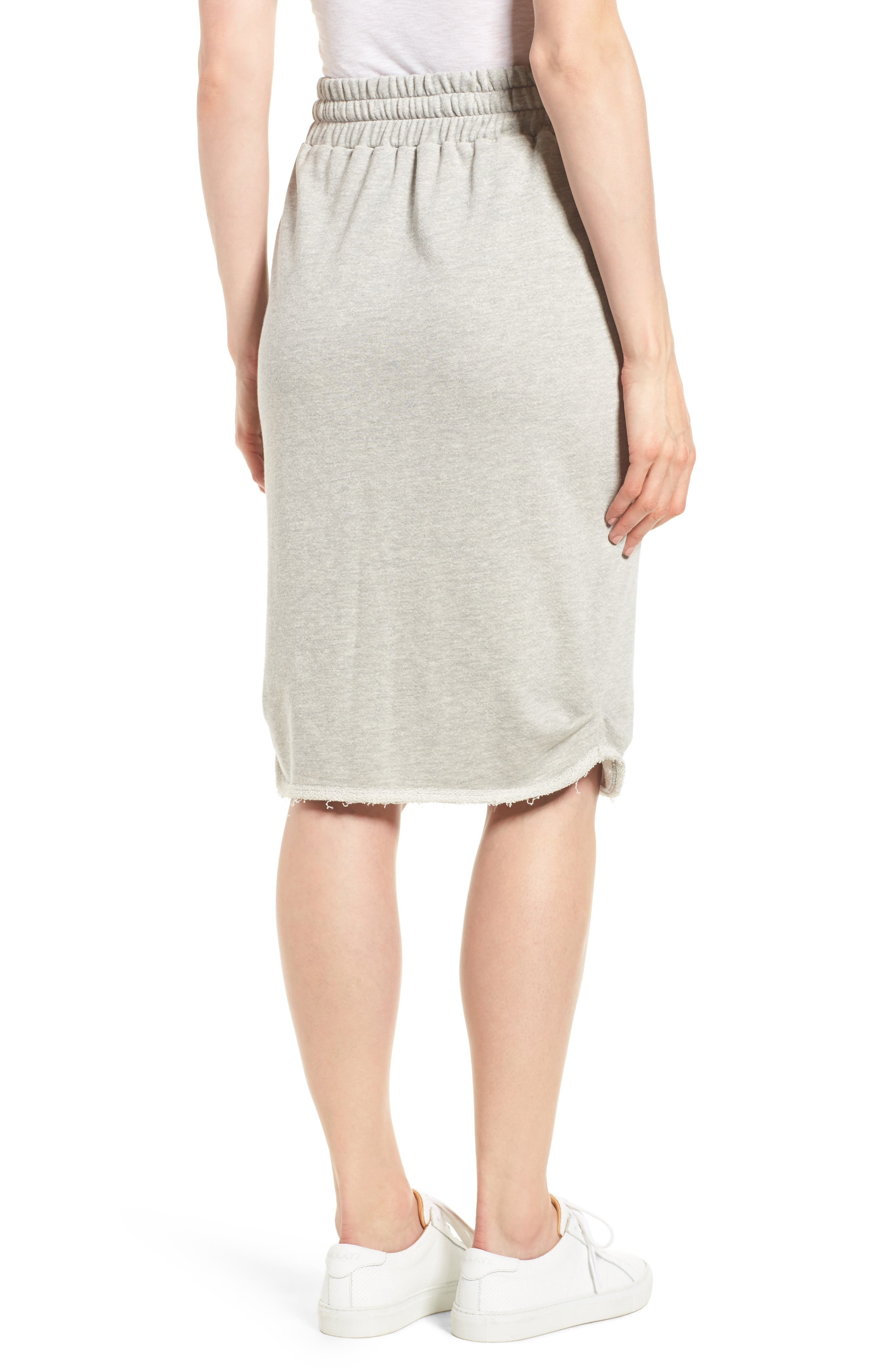 Off-Duty Cotton Knit Drawstring Skirt,                             Alternate thumbnail 2, color,